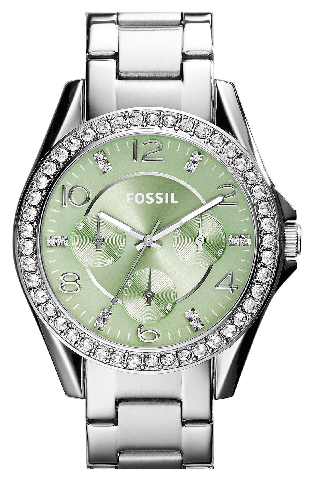 'Riley' Round Crystal Bezel Bracelet Watch, 38mm,                             Main thumbnail 9, color,