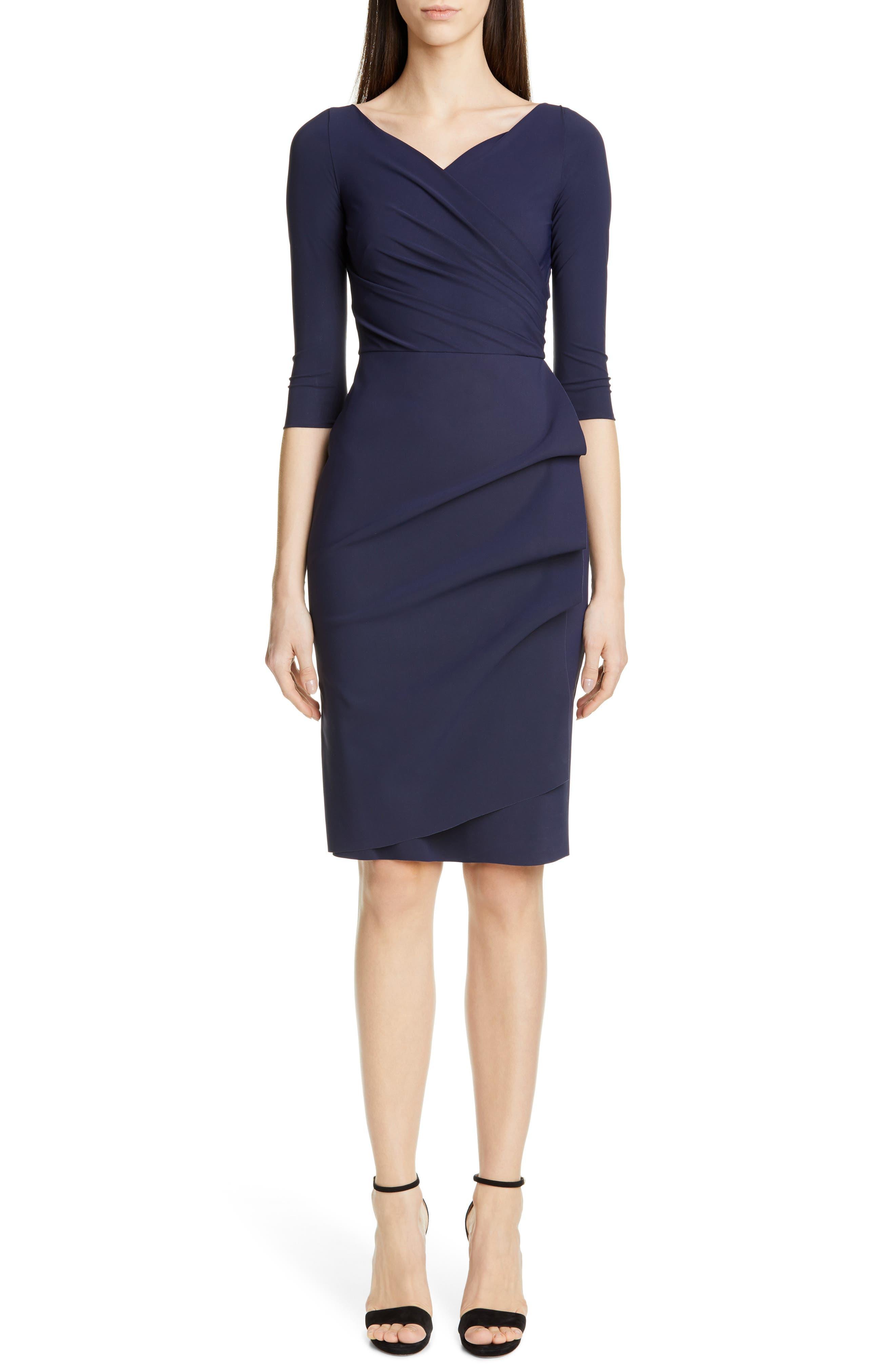 Chiara Boni La Petite Robe Florien Ruched Cocktail Dress, 6 IT - Blue