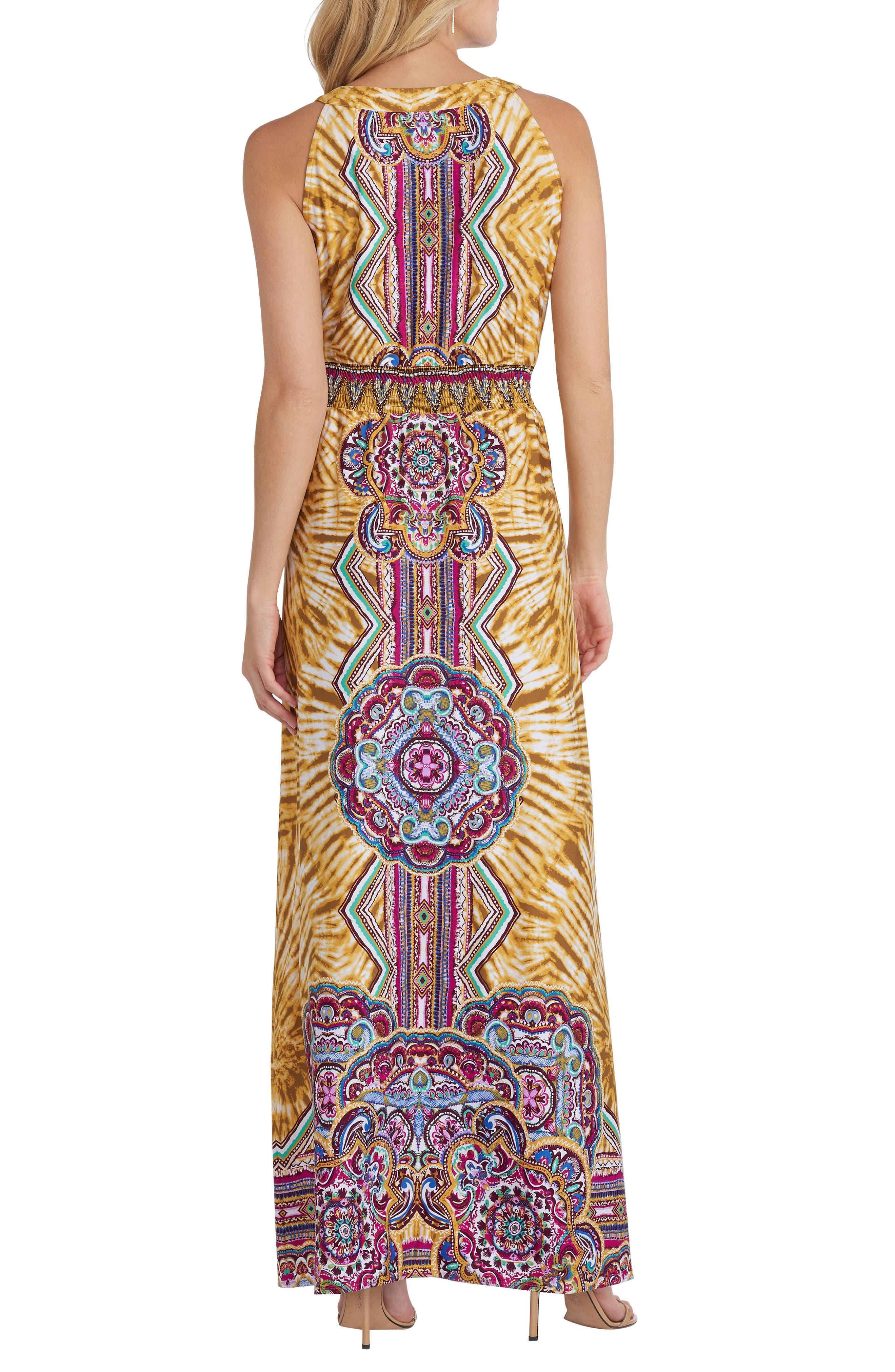 Print Maxi Dress,                             Alternate thumbnail 2, color,                             700
