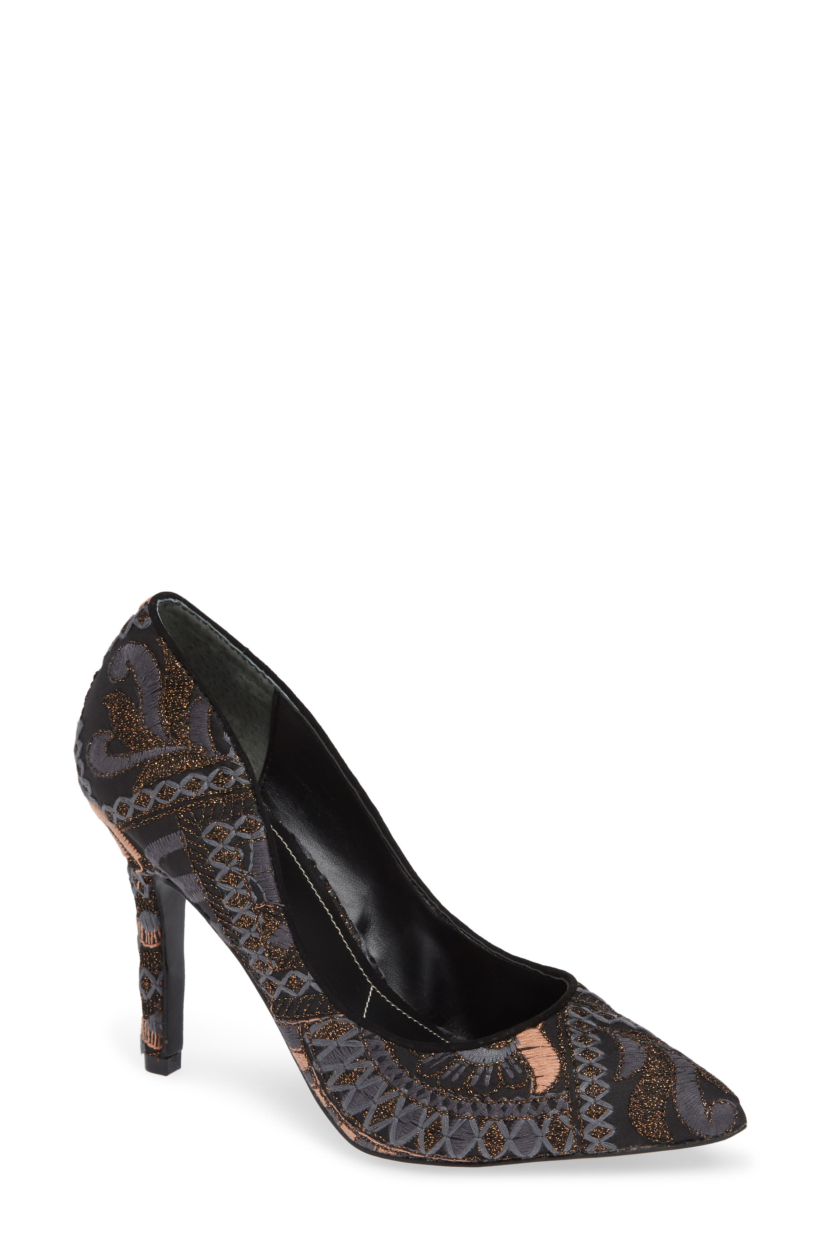 Maxx Pointy Toe Pump, Main, color, BLACK FABRIC