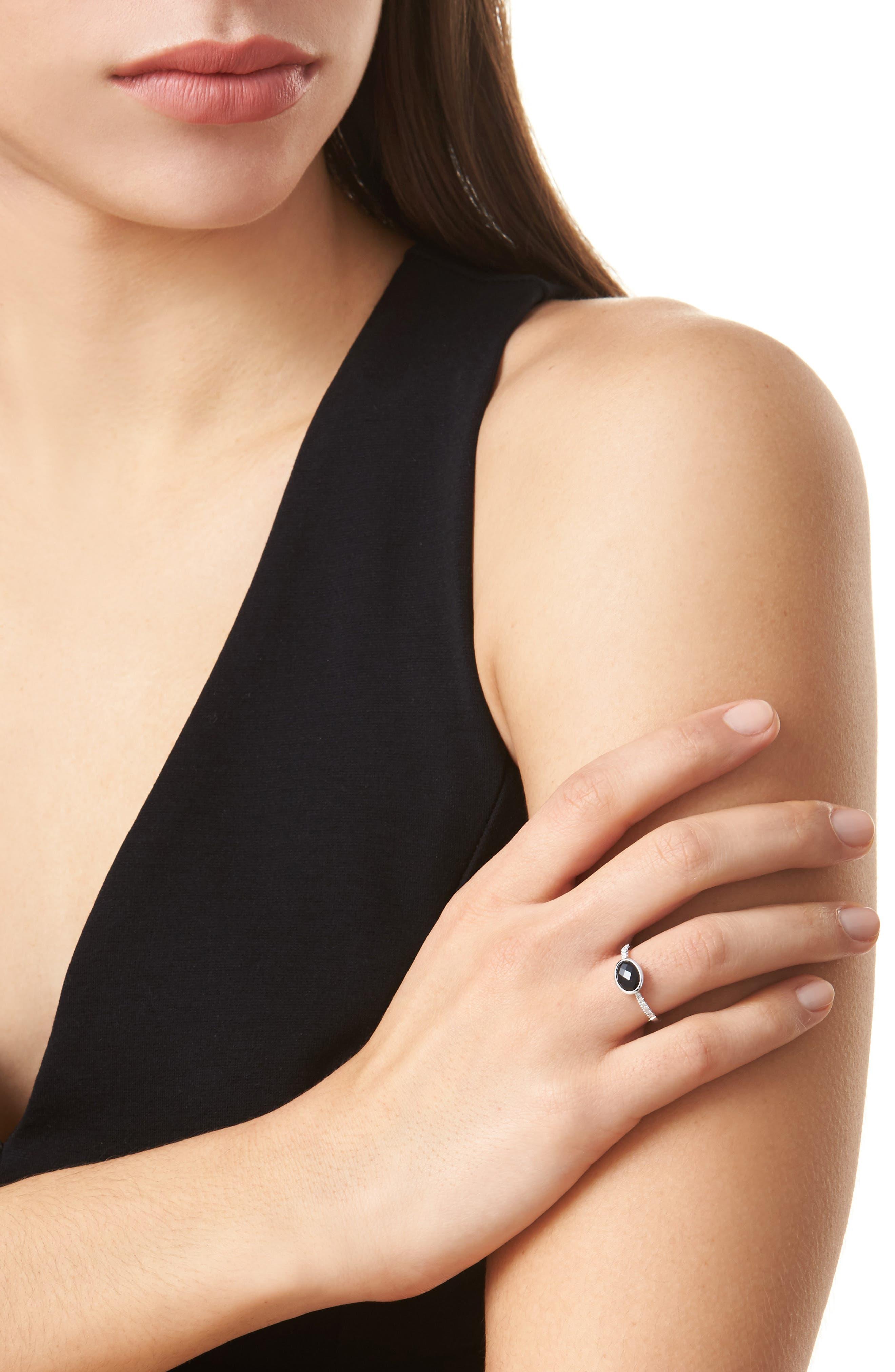 Iris Semiprecious Stone & Diamond Ring,                             Alternate thumbnail 5, color,