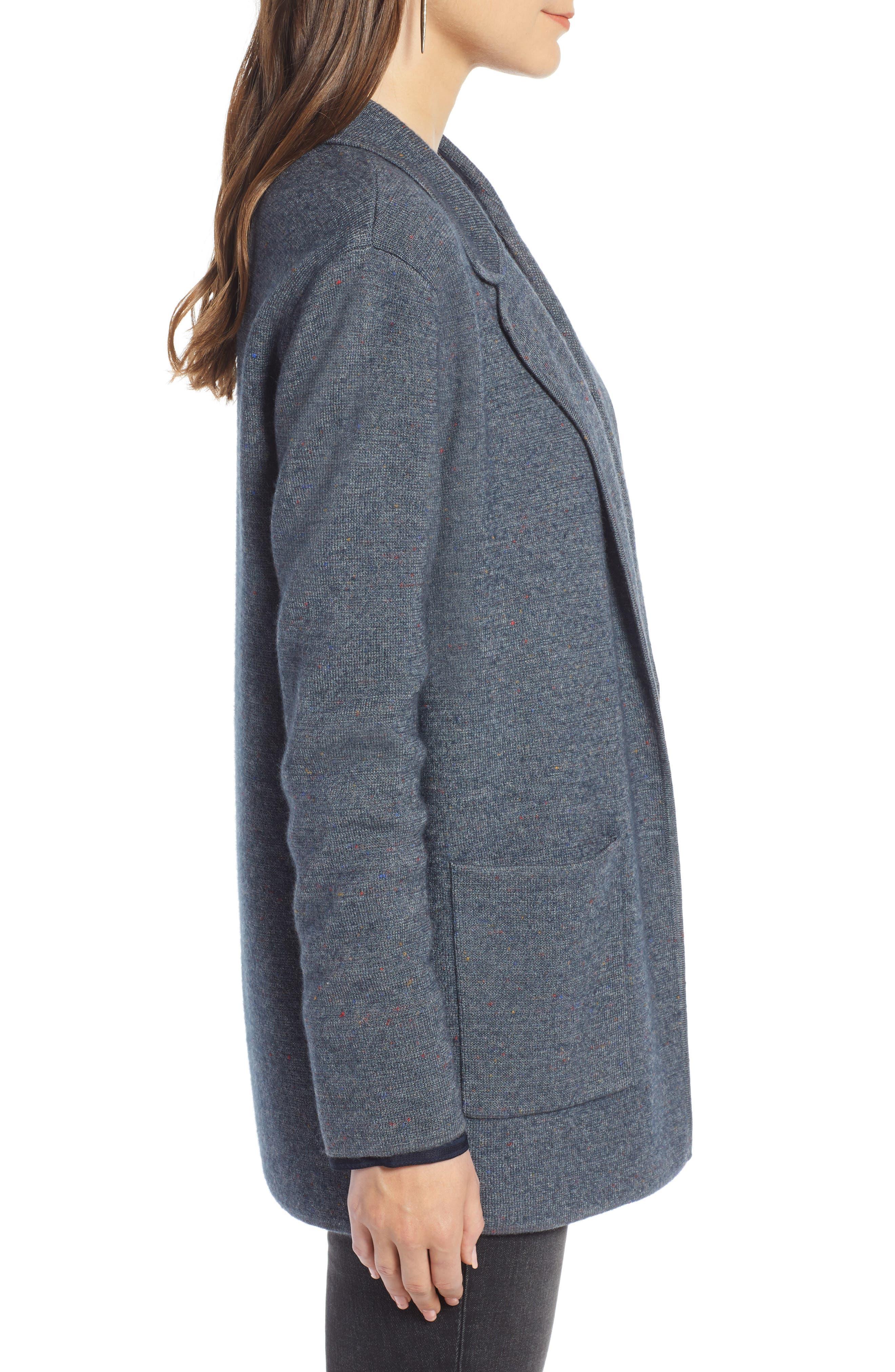 Sweater Blazer,                             Alternate thumbnail 3, color,                             GREY MEDIUM CHARCOAL HEATHER