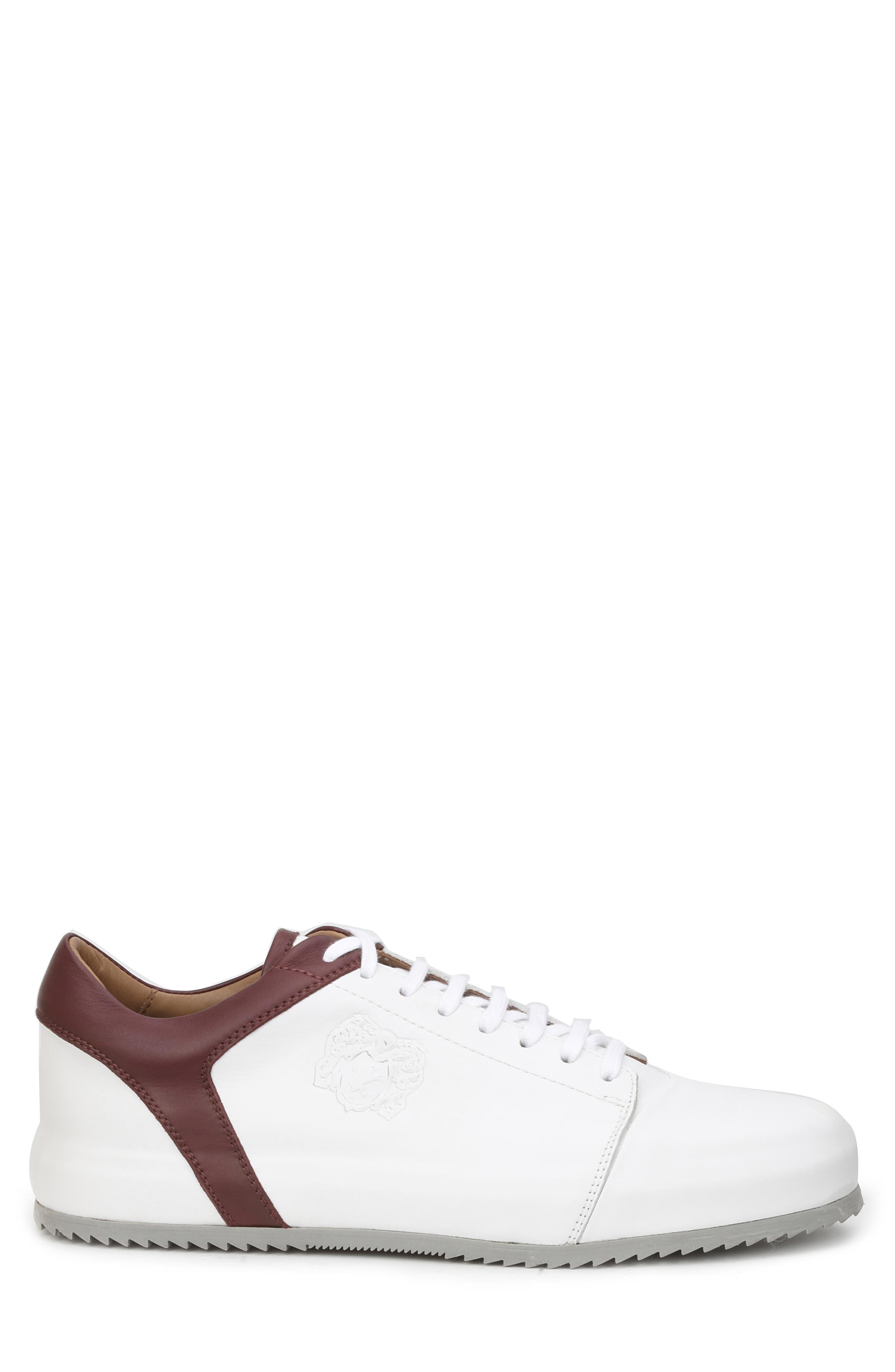 Santana Sneaker,                             Alternate thumbnail 3, color,                             WHITE/ BORDEAUX