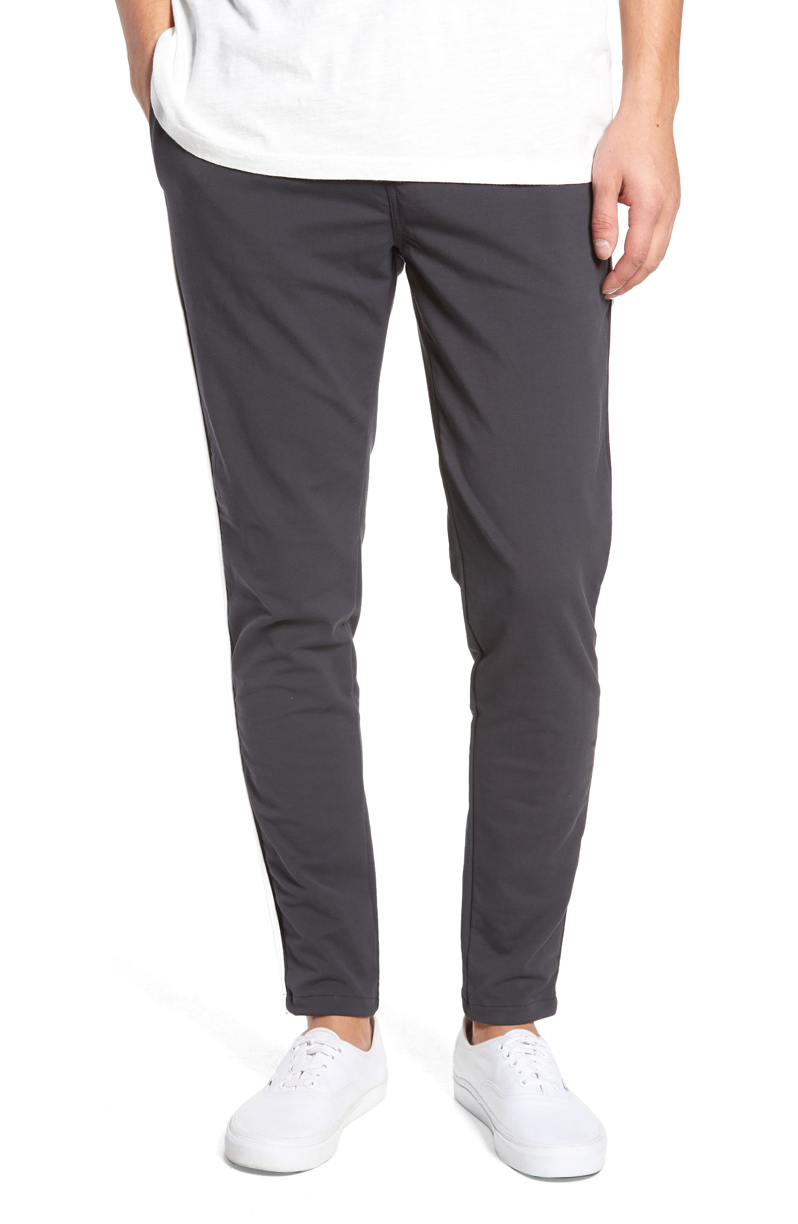 Jumpshot Slim Track Pants,                         Main,                         color, VINTAGE BLACK