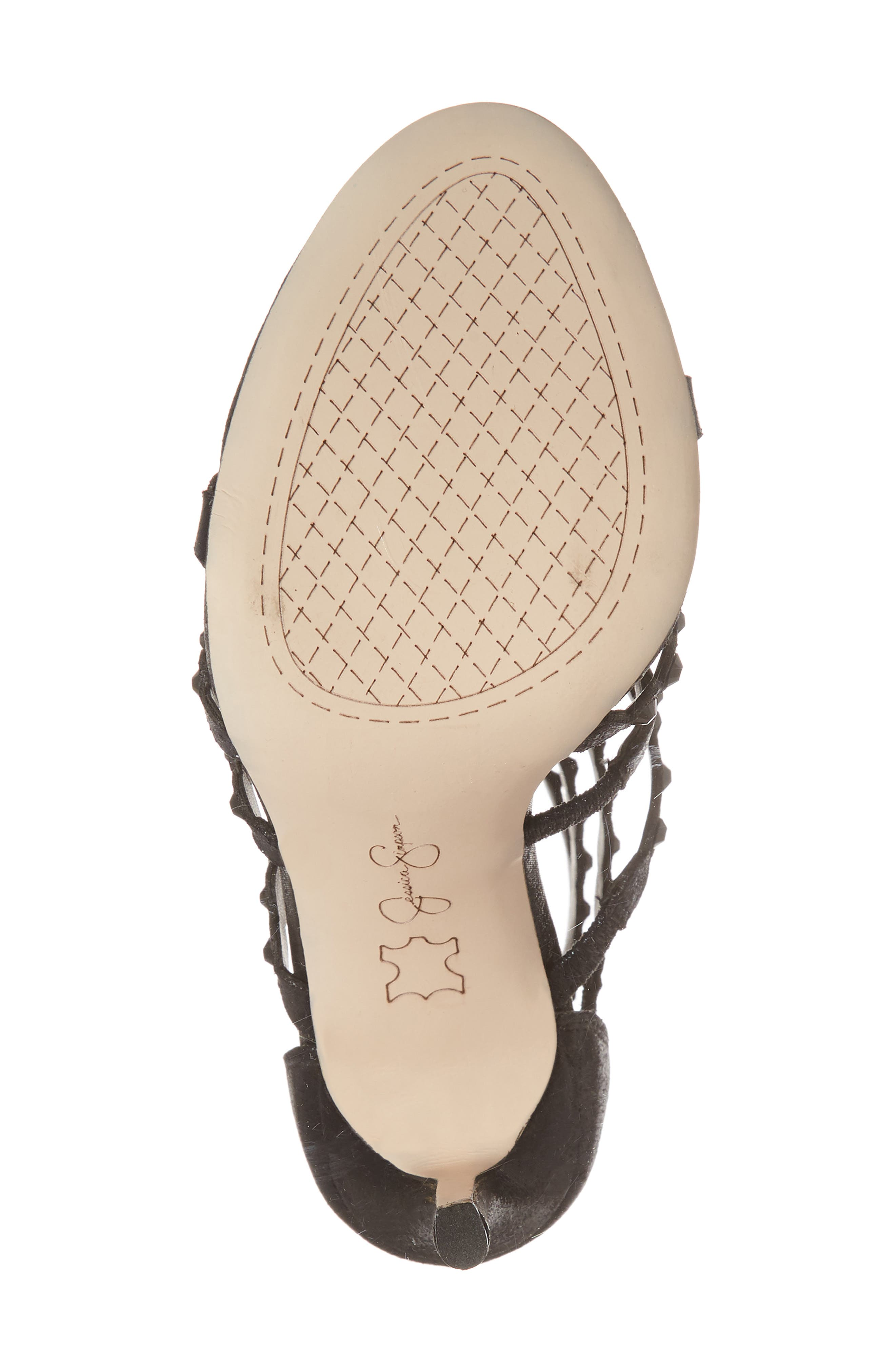 Jezalynn Embellished Sandal,                             Alternate thumbnail 6, color,                             001