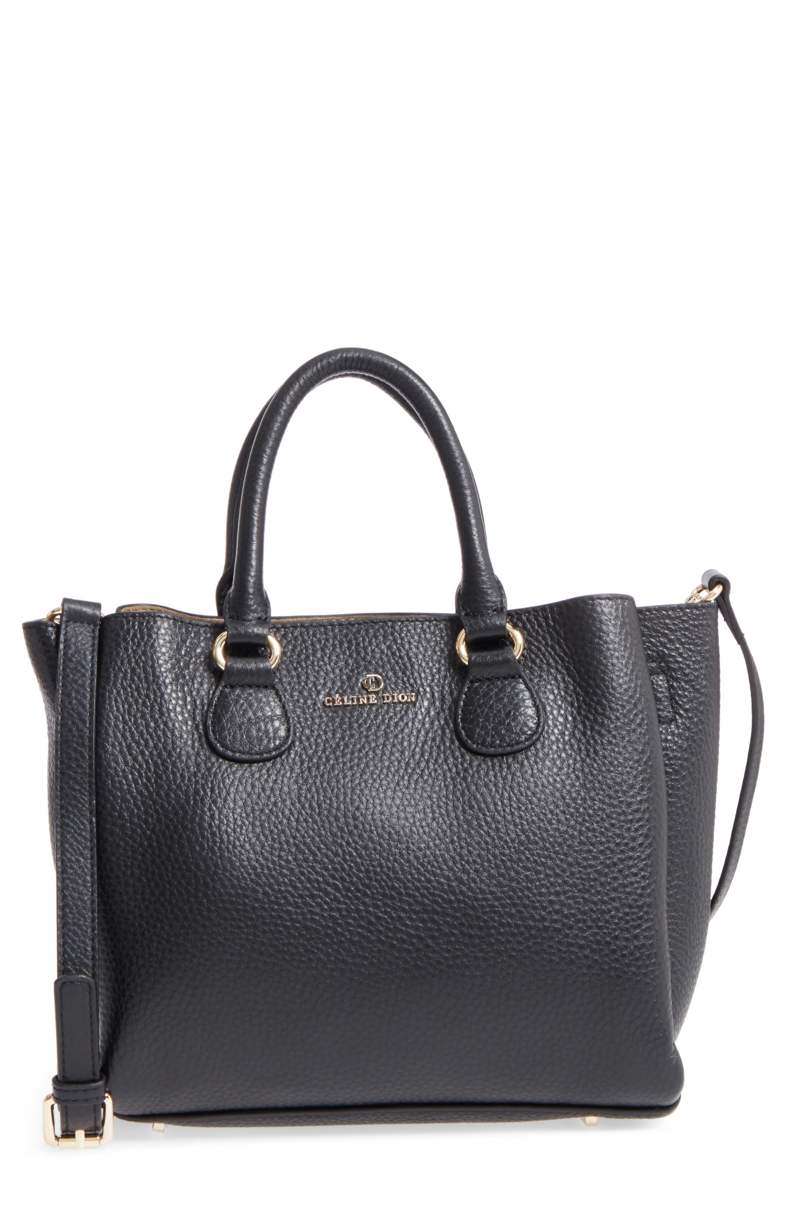 Céline Dion Small Adagio Leather Satchel,                             Main thumbnail 1, color,