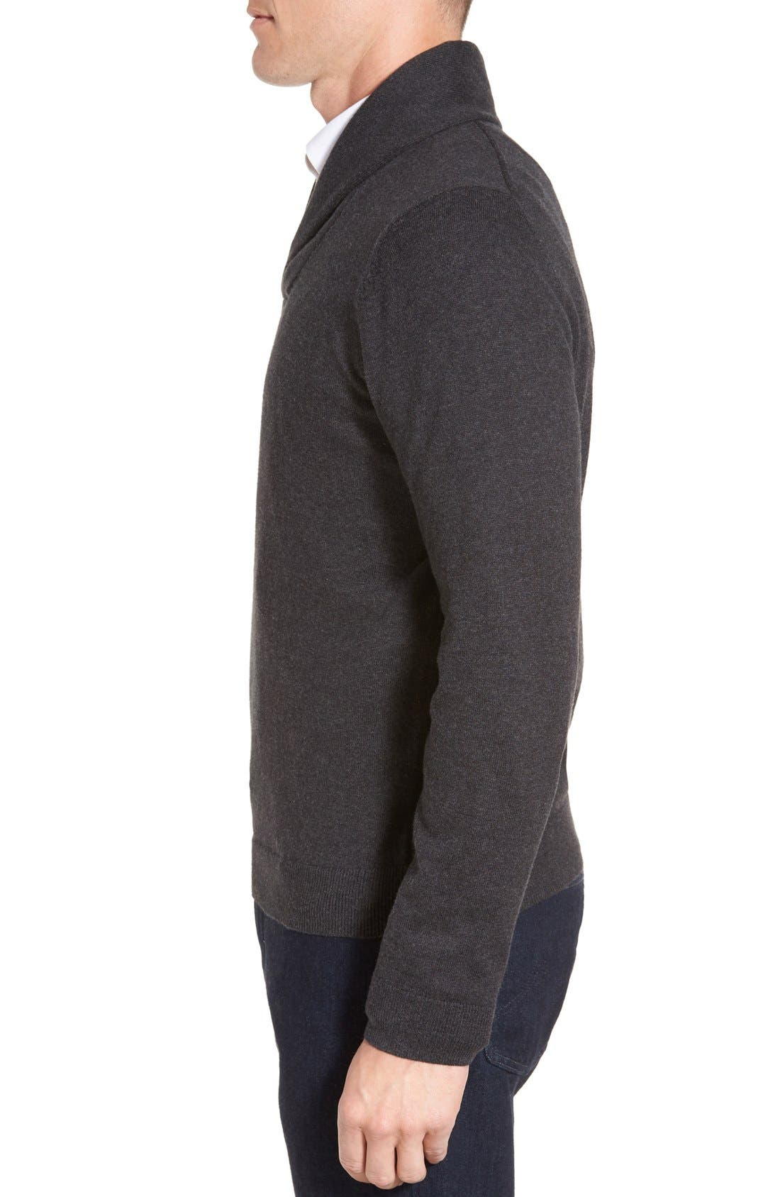 Men's Shop Shawl Collar Sweater,                             Alternate thumbnail 3, color,                             021