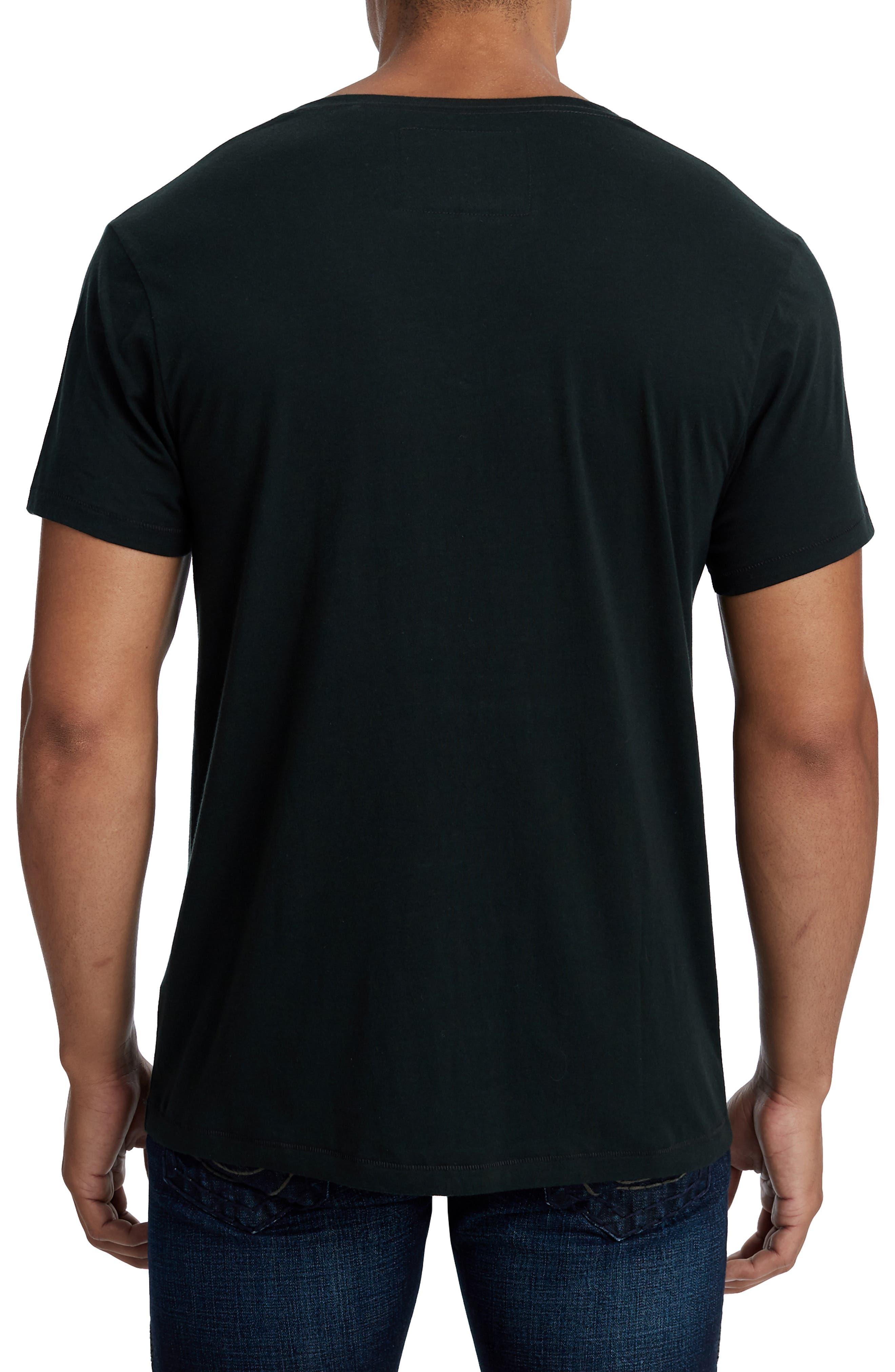 Essentials V-Neck T-Shirt,                             Alternate thumbnail 2, color,                             001