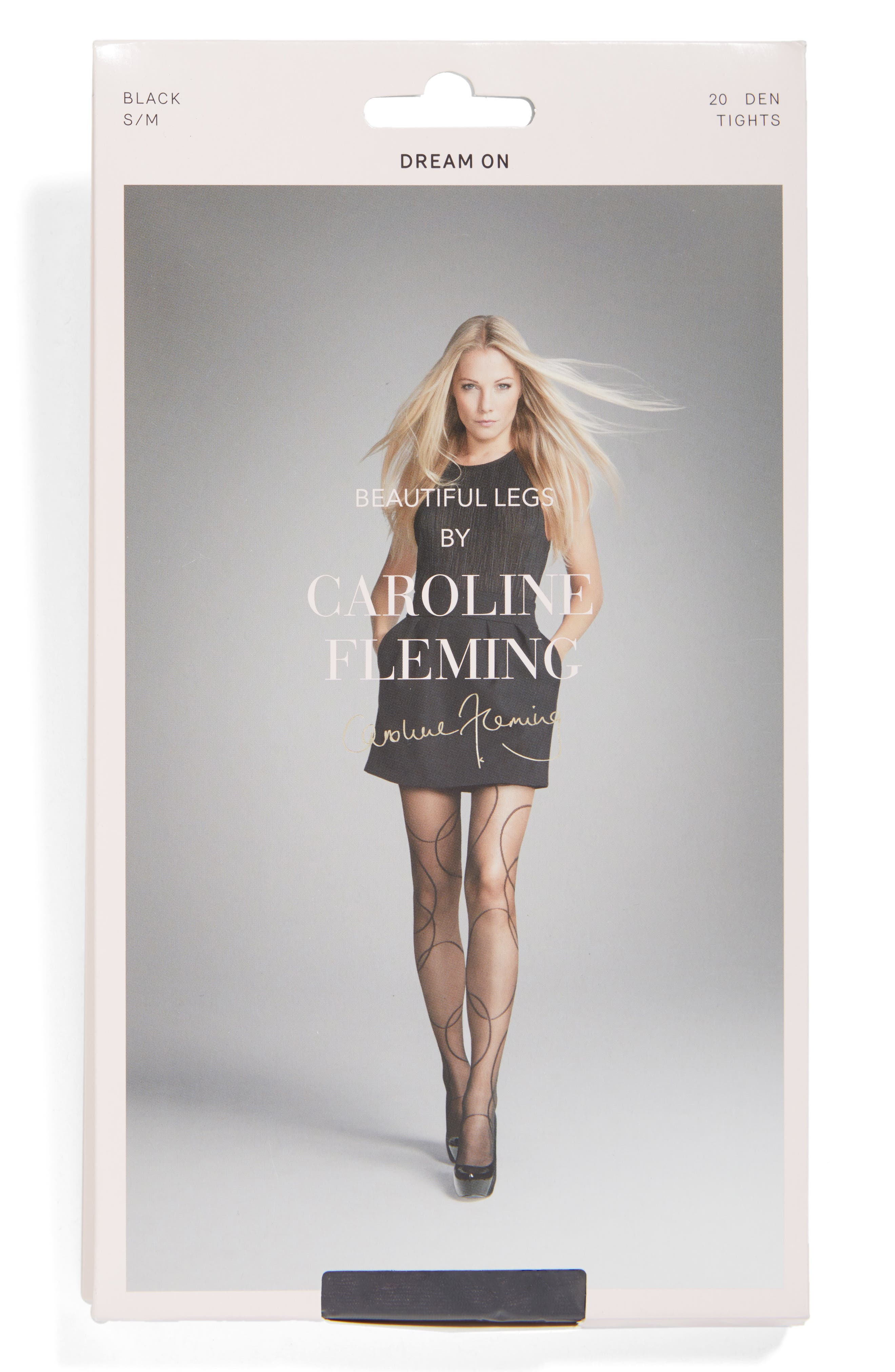 BEAUTIFUL LEGS BY CAROLINE,                             Fleming Dream On Pantyhose,                             Alternate thumbnail 2, color,                             001