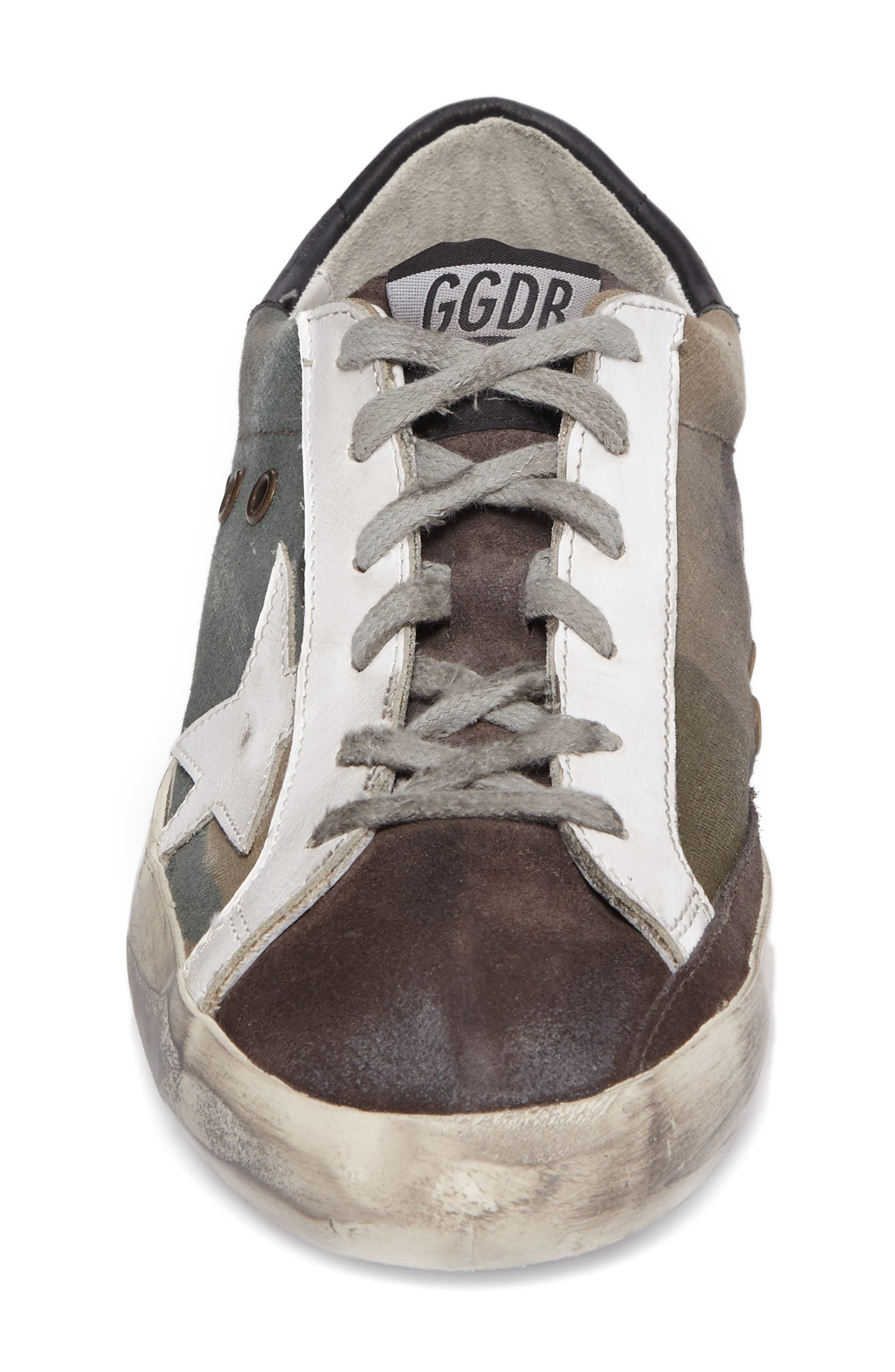 GOLDEN GOOSE,                             Superstar Low Top Sneaker,                             Alternate thumbnail 4, color,                             020
