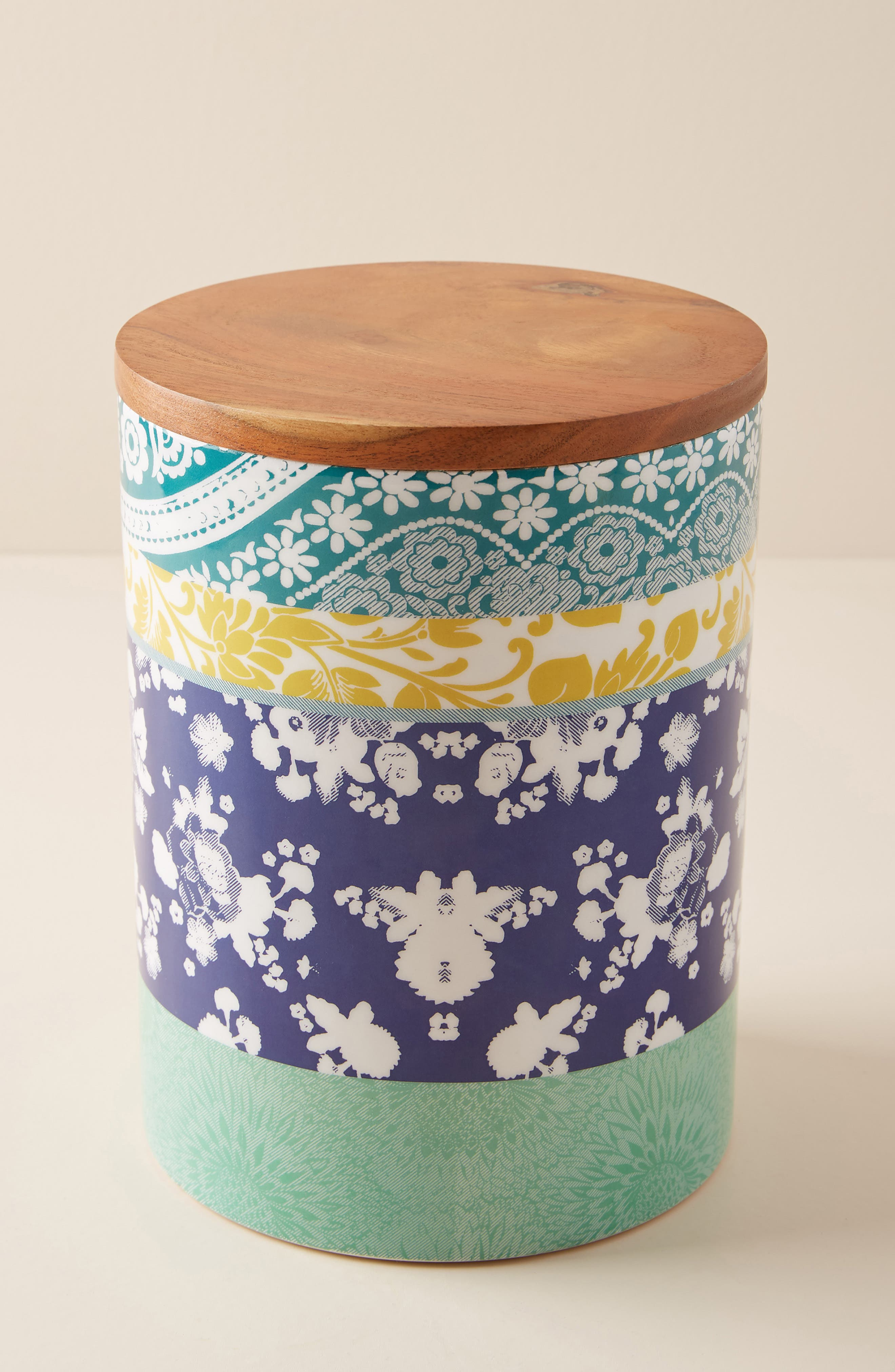 ANTHROPOLOGIE Jacquard Canister, Main, color, PURPLE