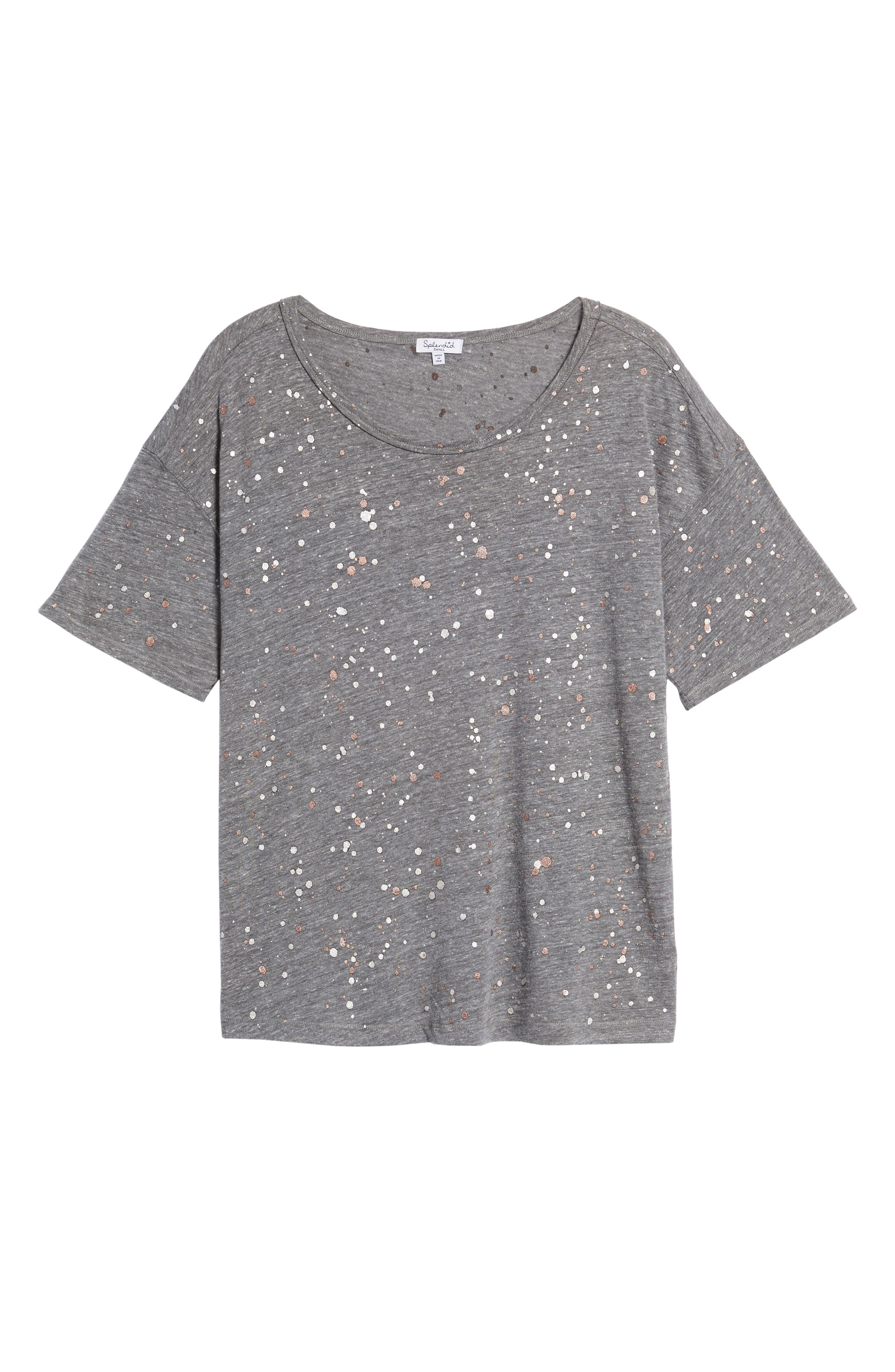 Metallic Splatter Tee,                             Alternate thumbnail 6, color,                             020