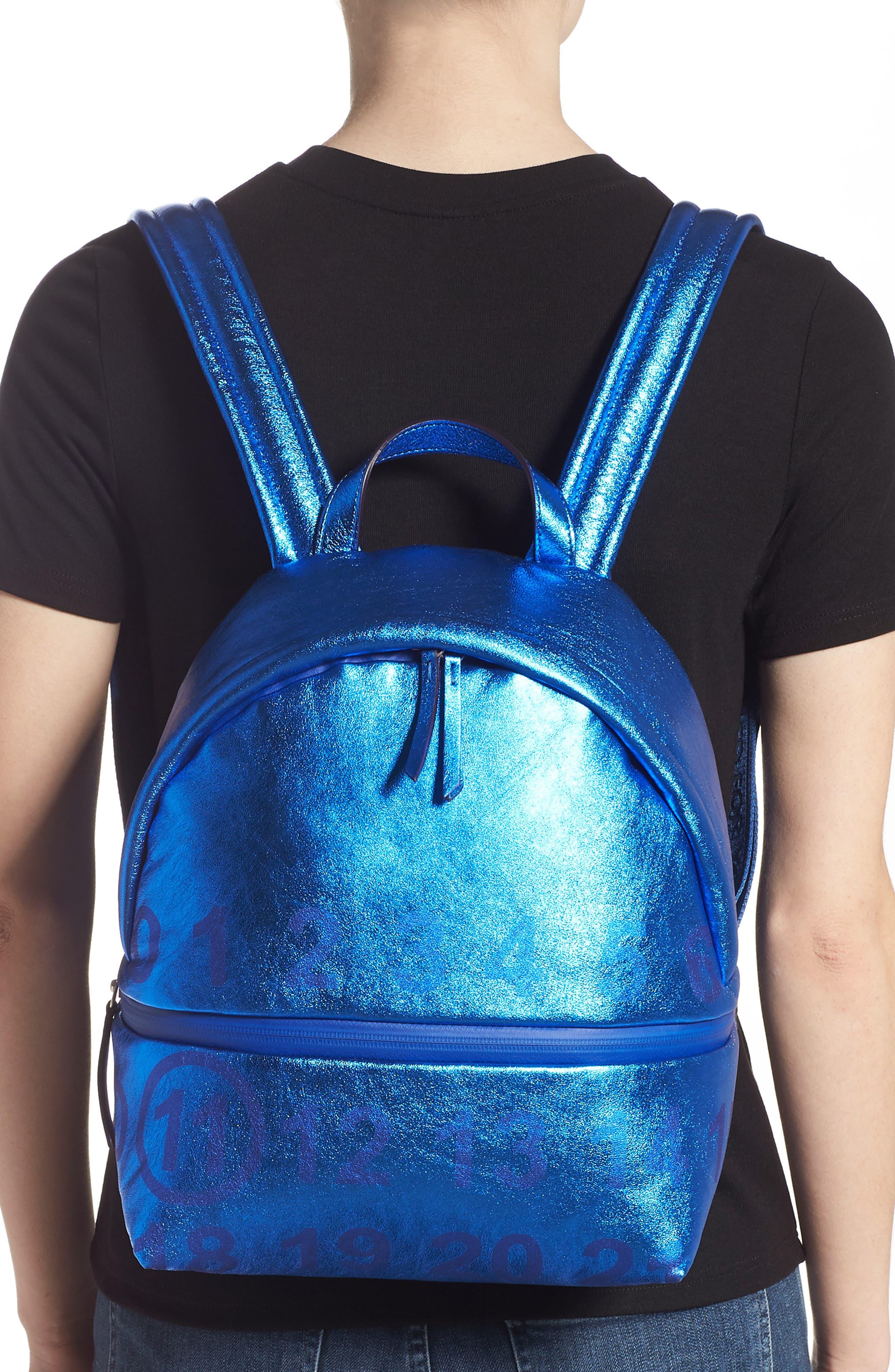 MAISON MARGIELA,                             Medium Number Print Backpack,                             Alternate thumbnail 2, color,                             DAZZLING BLUE