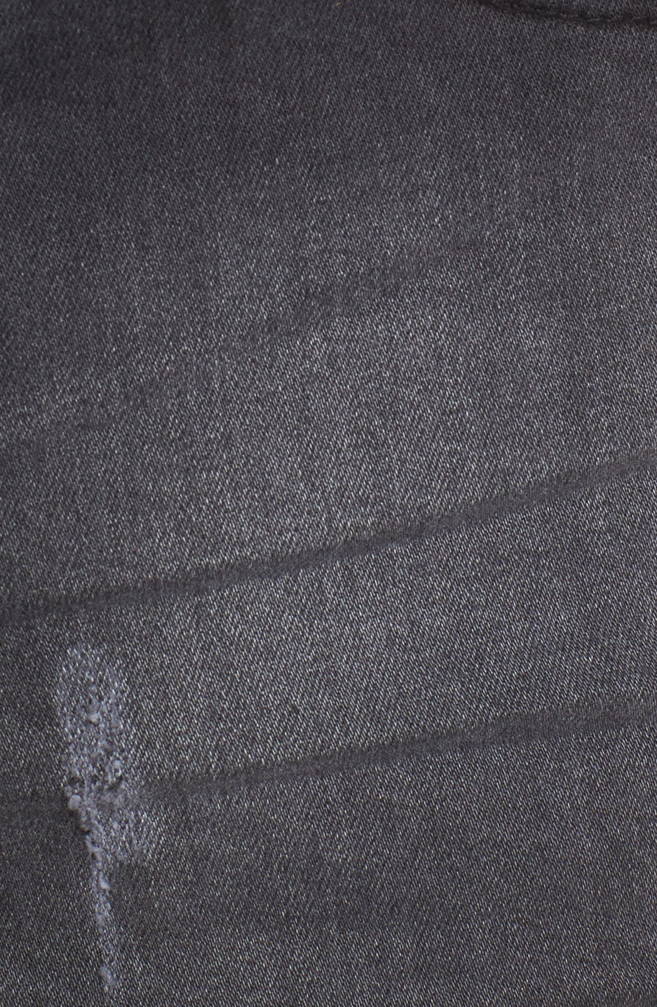 Rachel High Waisted Denim Shorts,                             Alternate thumbnail 5, color,                             001