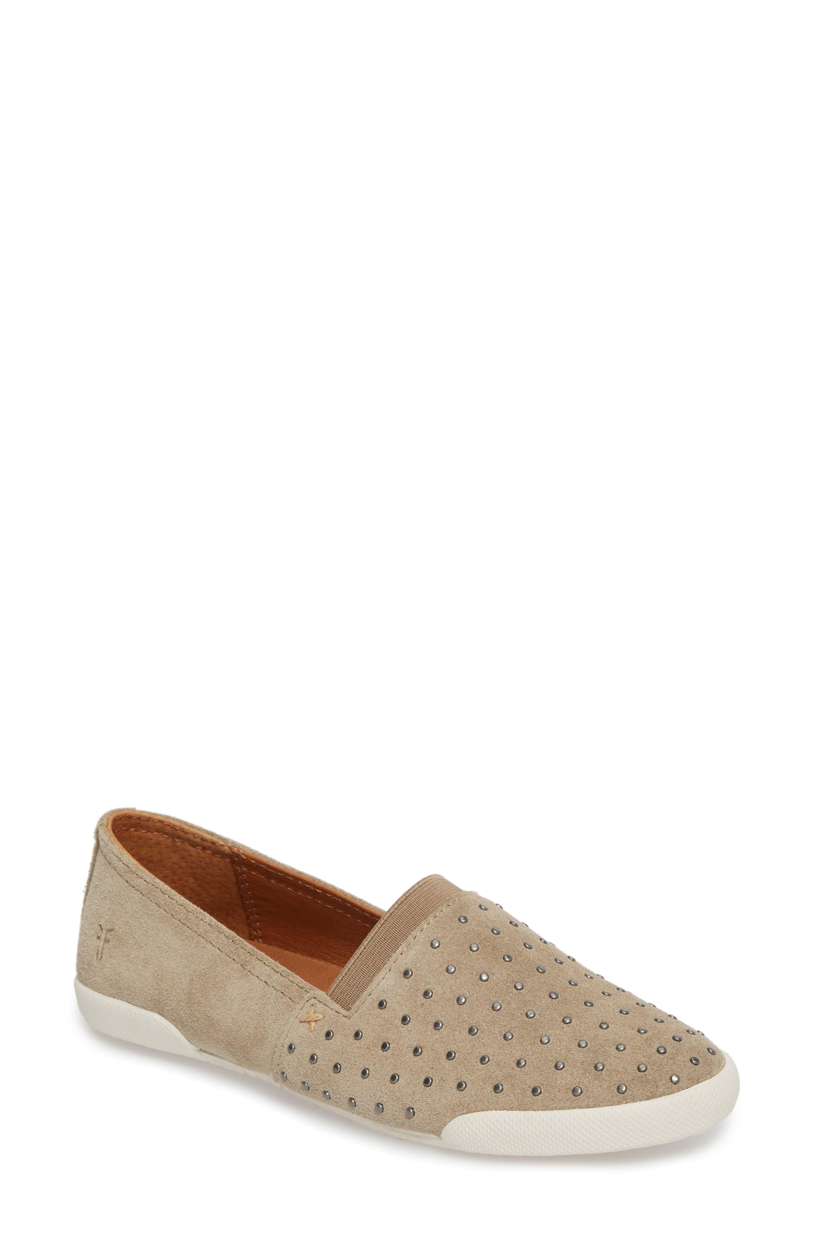 Melanie Stud Slip-On Sneaker,                         Main,                         color, ASH
