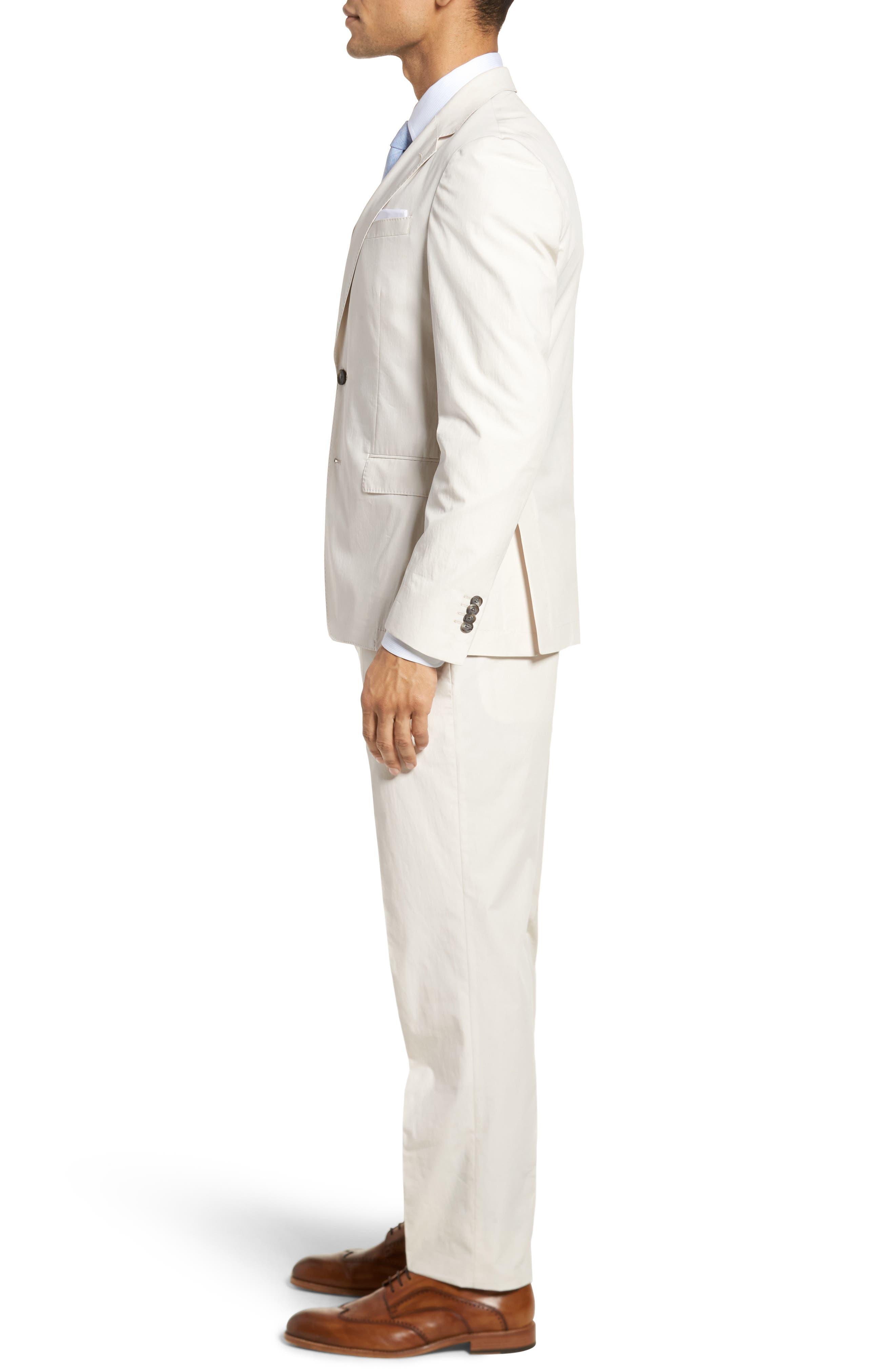Nylen/Perry Trim Fit Solid Cotton Suit,                             Alternate thumbnail 3, color,