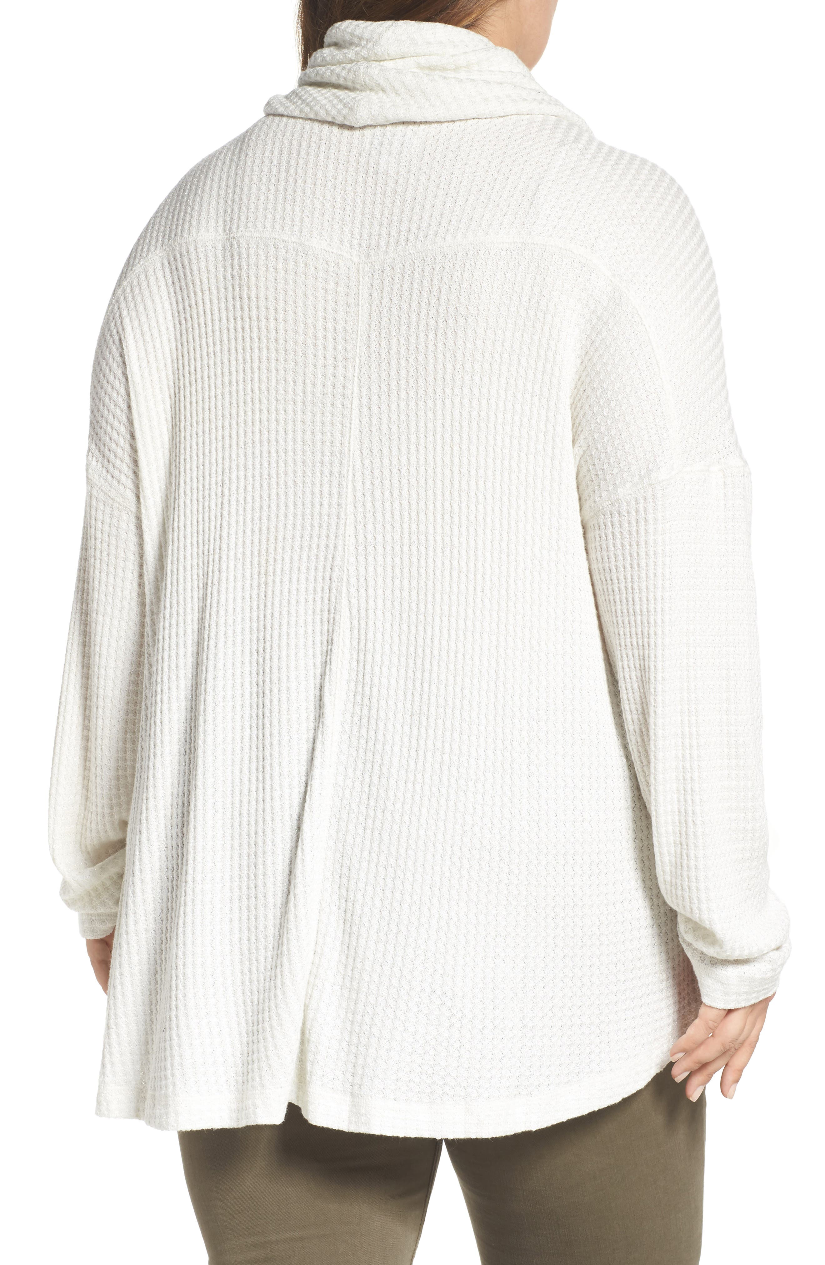 Cowl Neck Thermal Top,                             Alternate thumbnail 2, color,                             110
