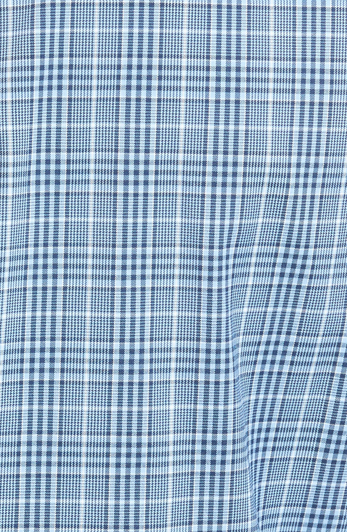 Honeycomb Regular Fit Glen Plaid Performance Sport Shirt,                             Alternate thumbnail 5, color,                             402