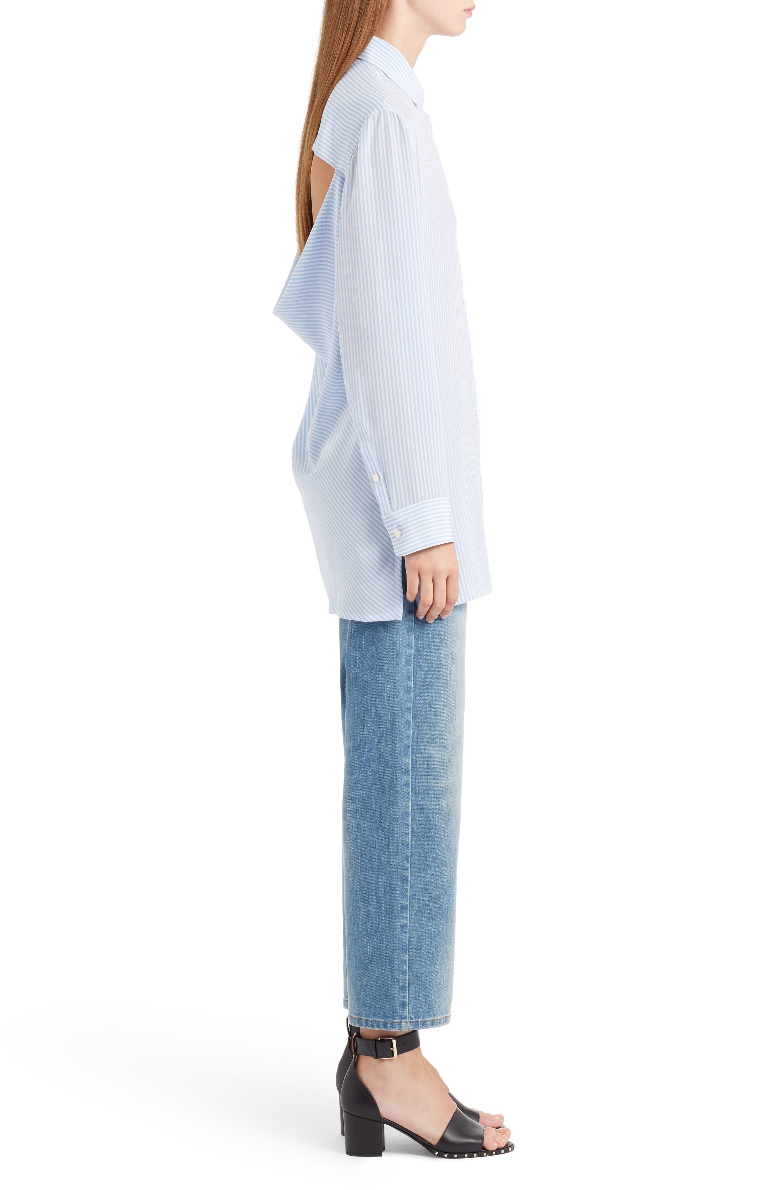 Rockstud Boyfriend Jeans,                             Alternate thumbnail 4, color,                             BLUE