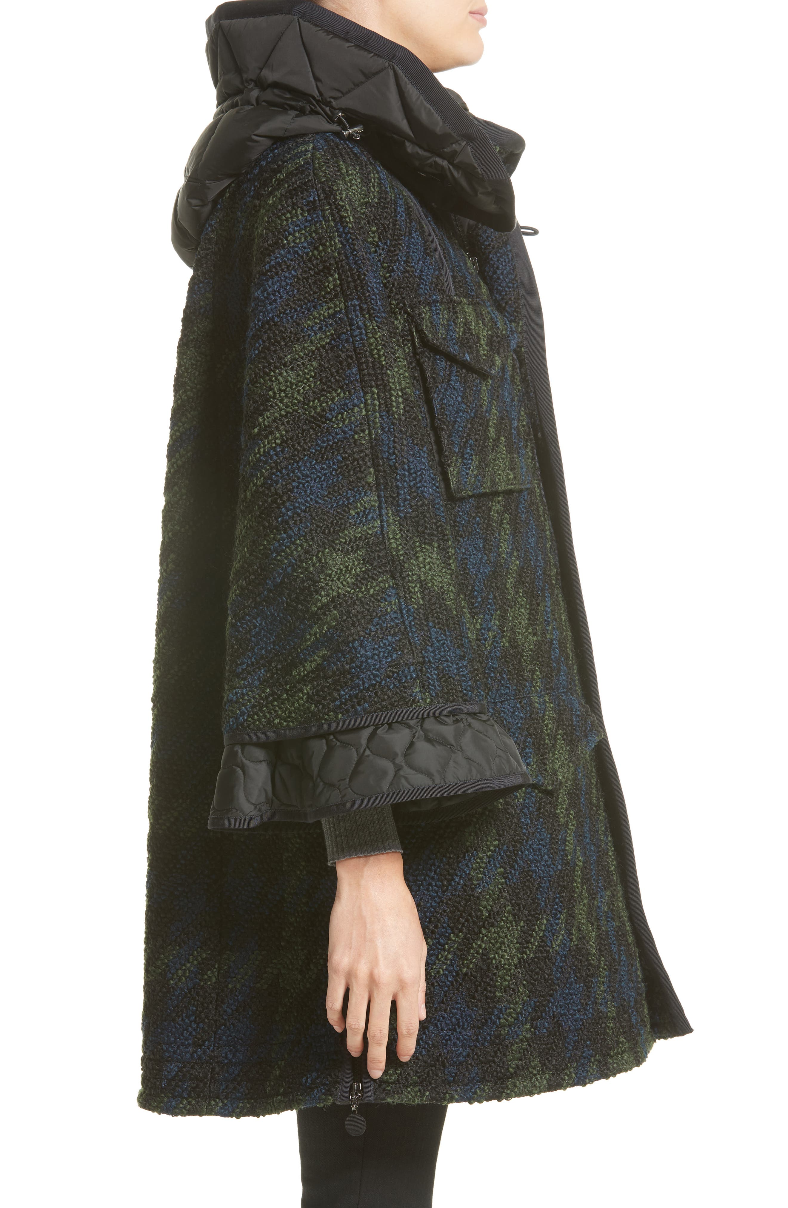 Euphrasie Wool Blend Houndstooth Coat,                             Alternate thumbnail 5, color,