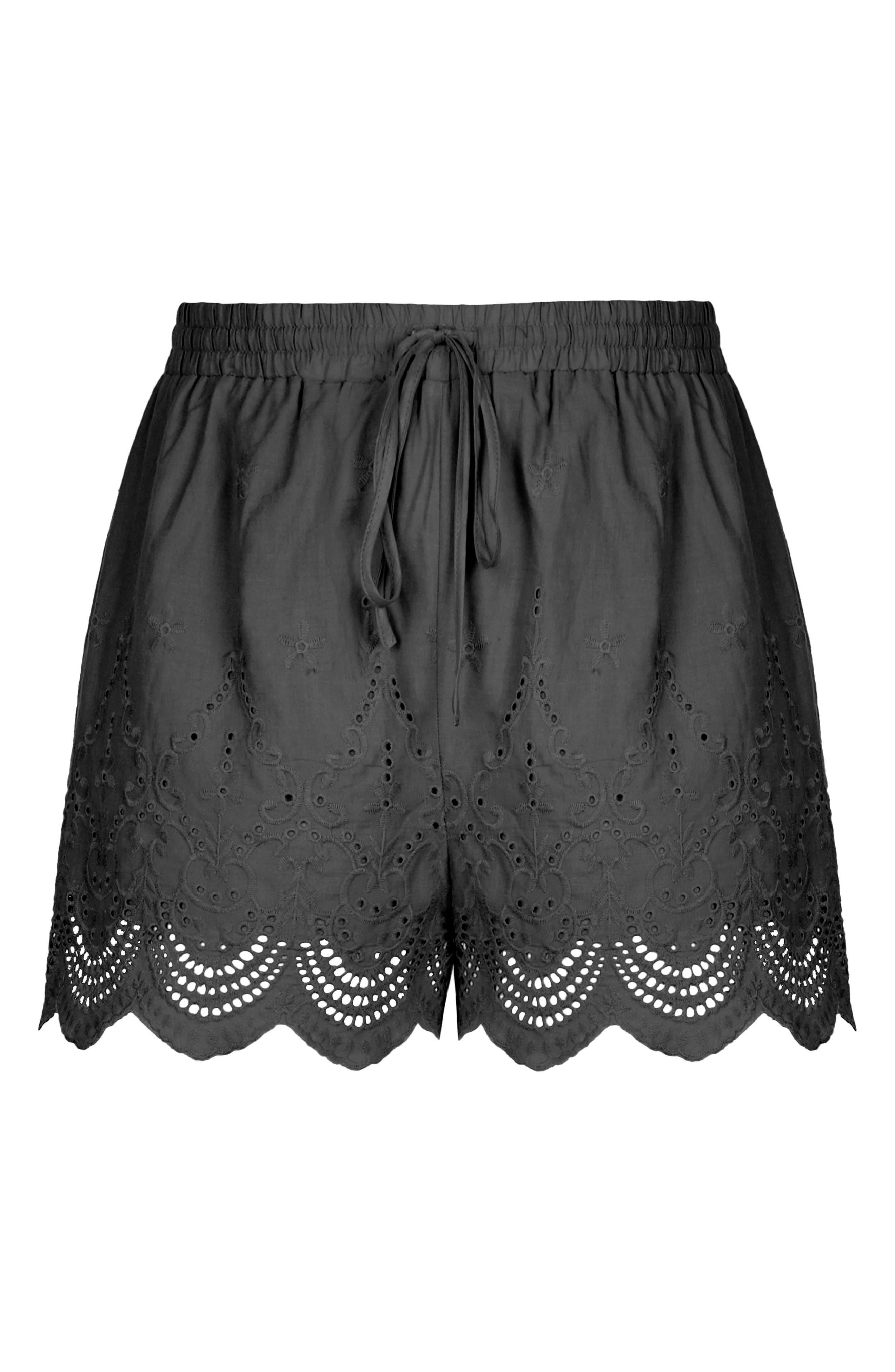 Summer Love Drawstring Shorts,                             Alternate thumbnail 3, color,                             002