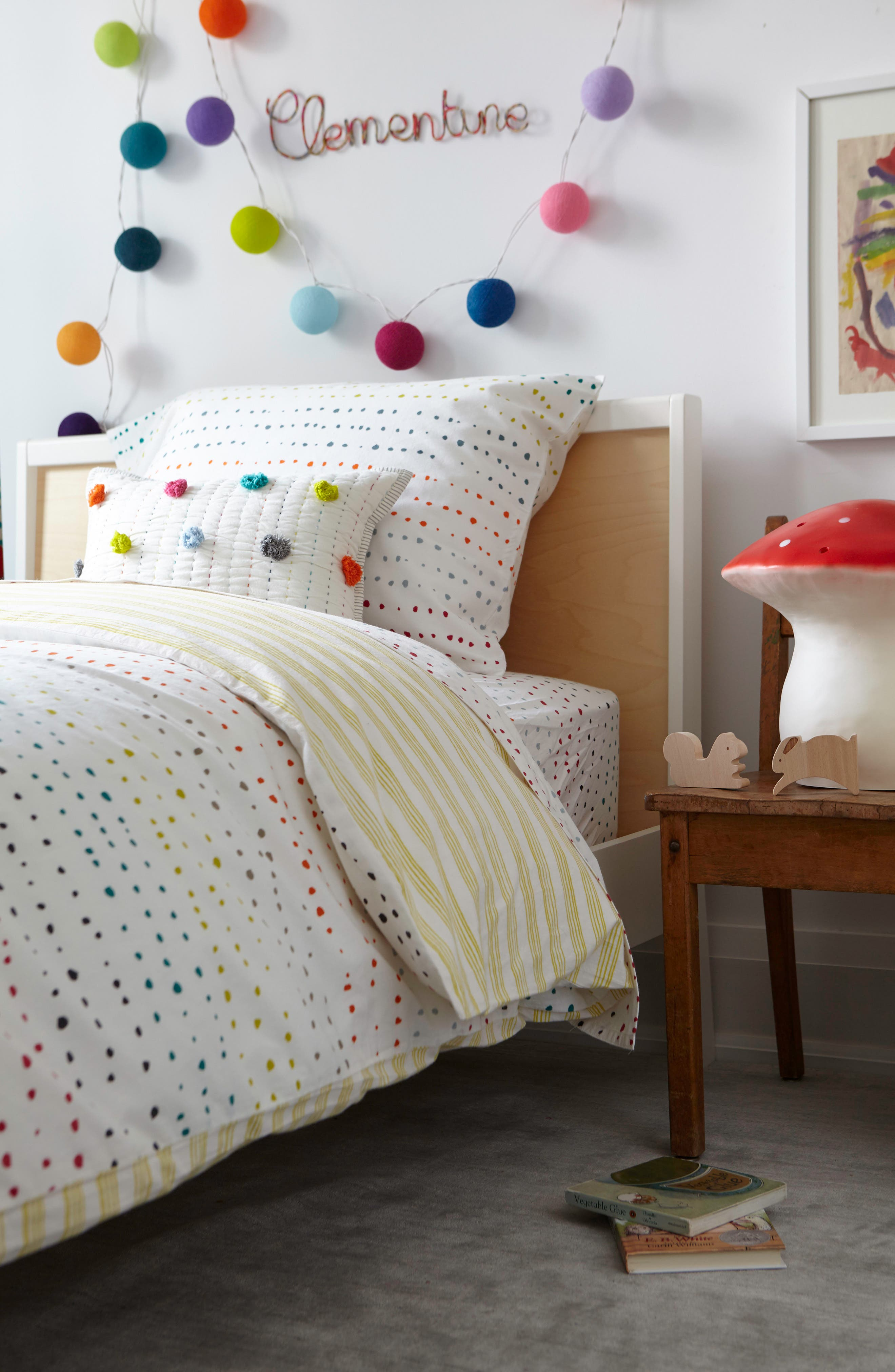 Painted Dots Reversible Sham,                             Alternate thumbnail 4, color,                             100