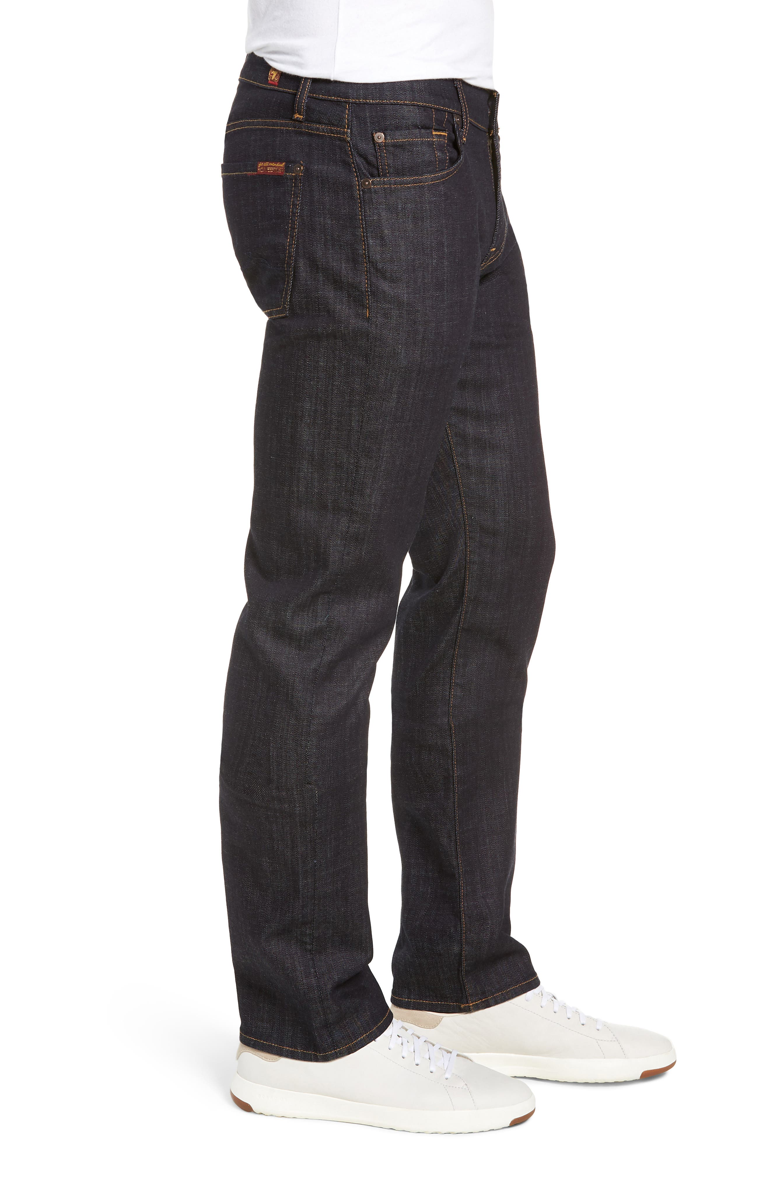 'Standard' Straight Leg Jeans,                             Alternate thumbnail 4, color,                             DARK AND CLEAN