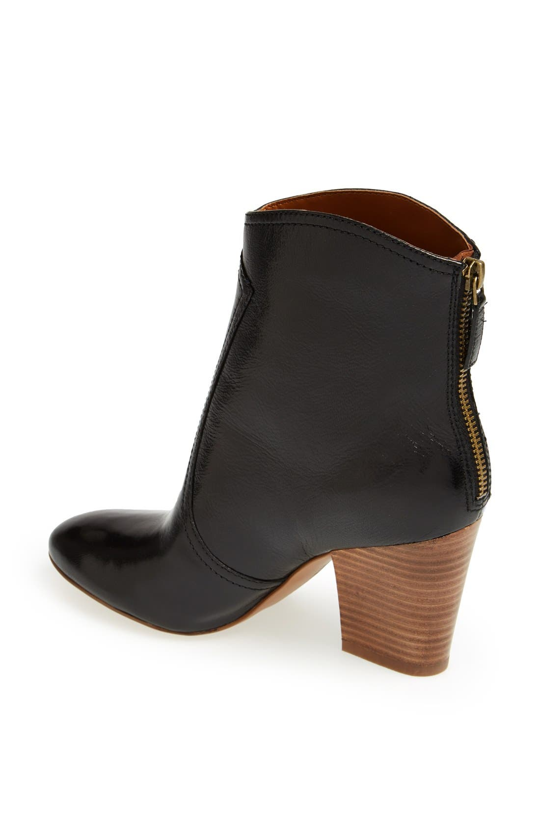 NINE WEST,                             'Dashiell' Leather Boot,                             Alternate thumbnail 2, color,                             001