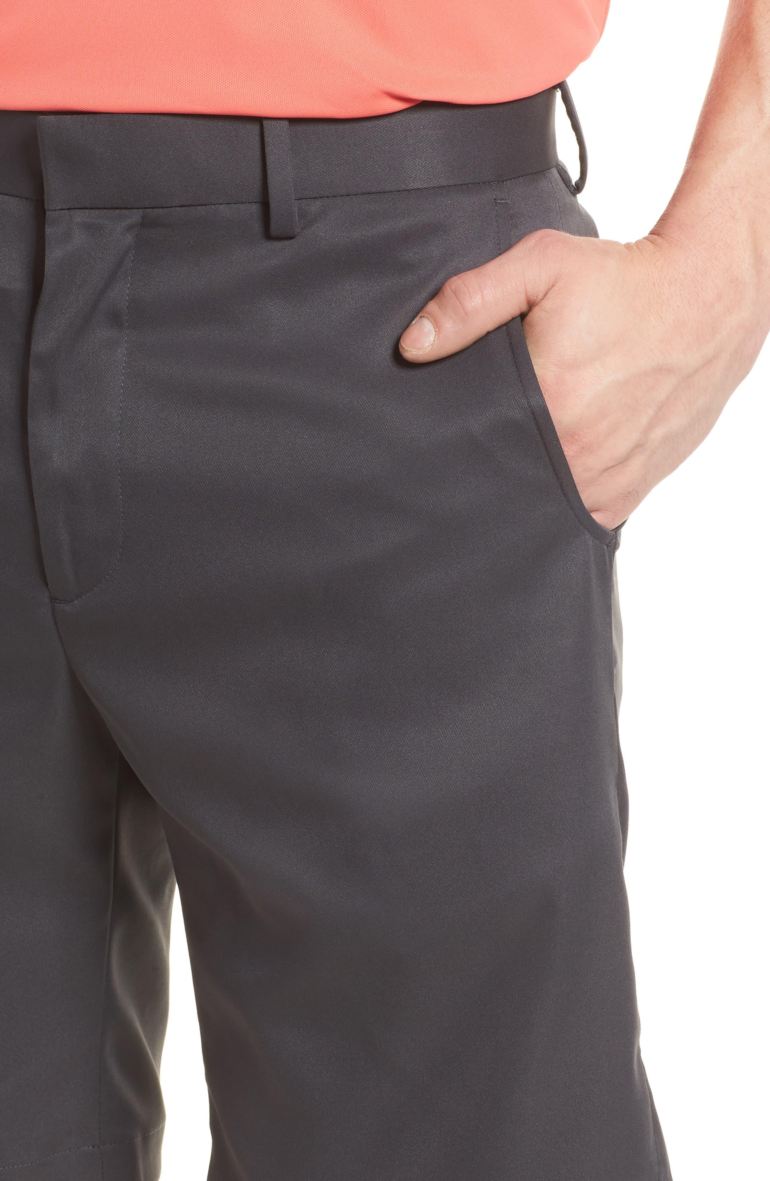 Flat Front Tech Shorts,                             Alternate thumbnail 4, color,                             CHARCOAL