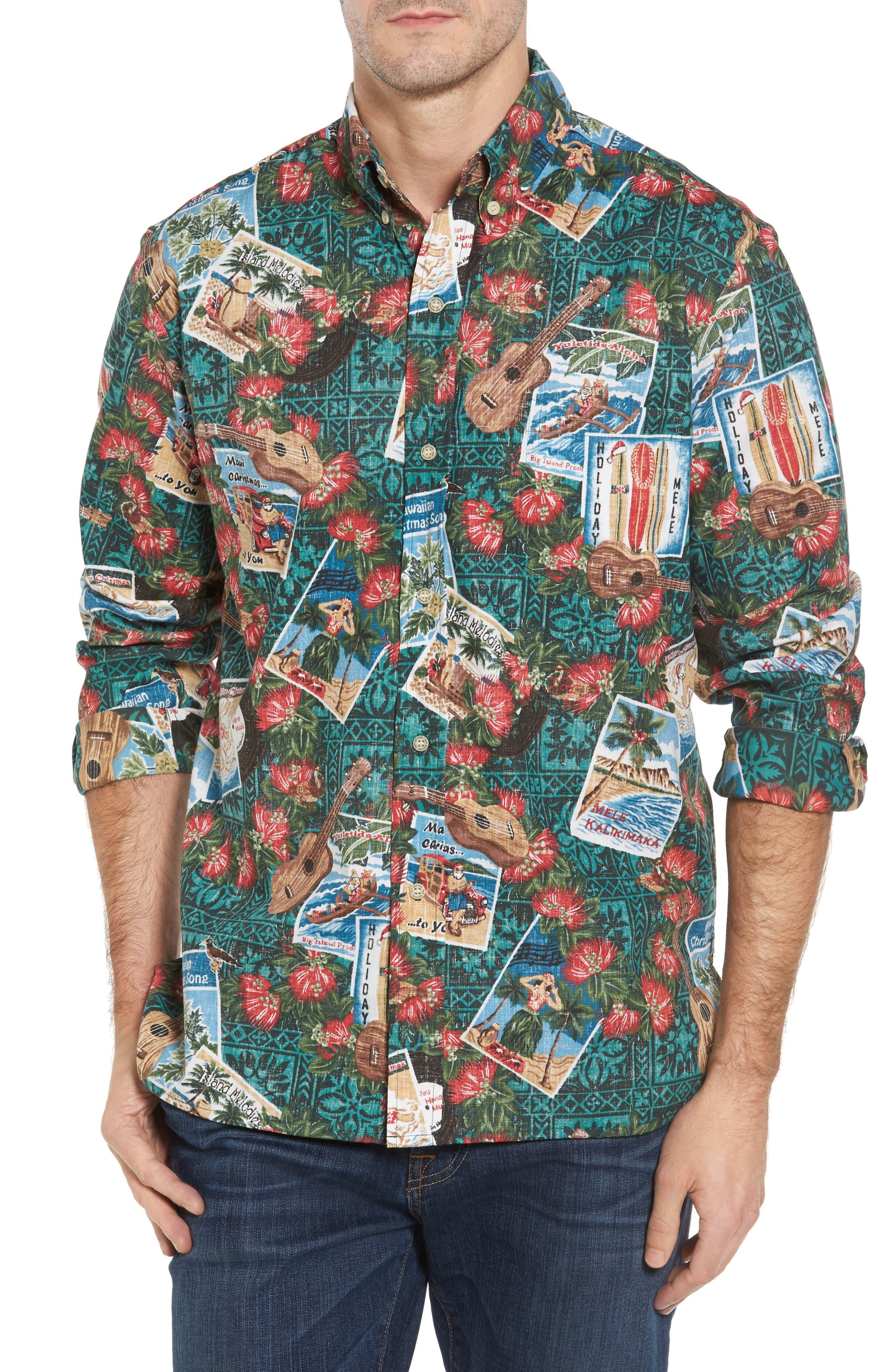 Hawaiian Christmas 2017 Sport Shirt,                             Main thumbnail 1, color,                             310