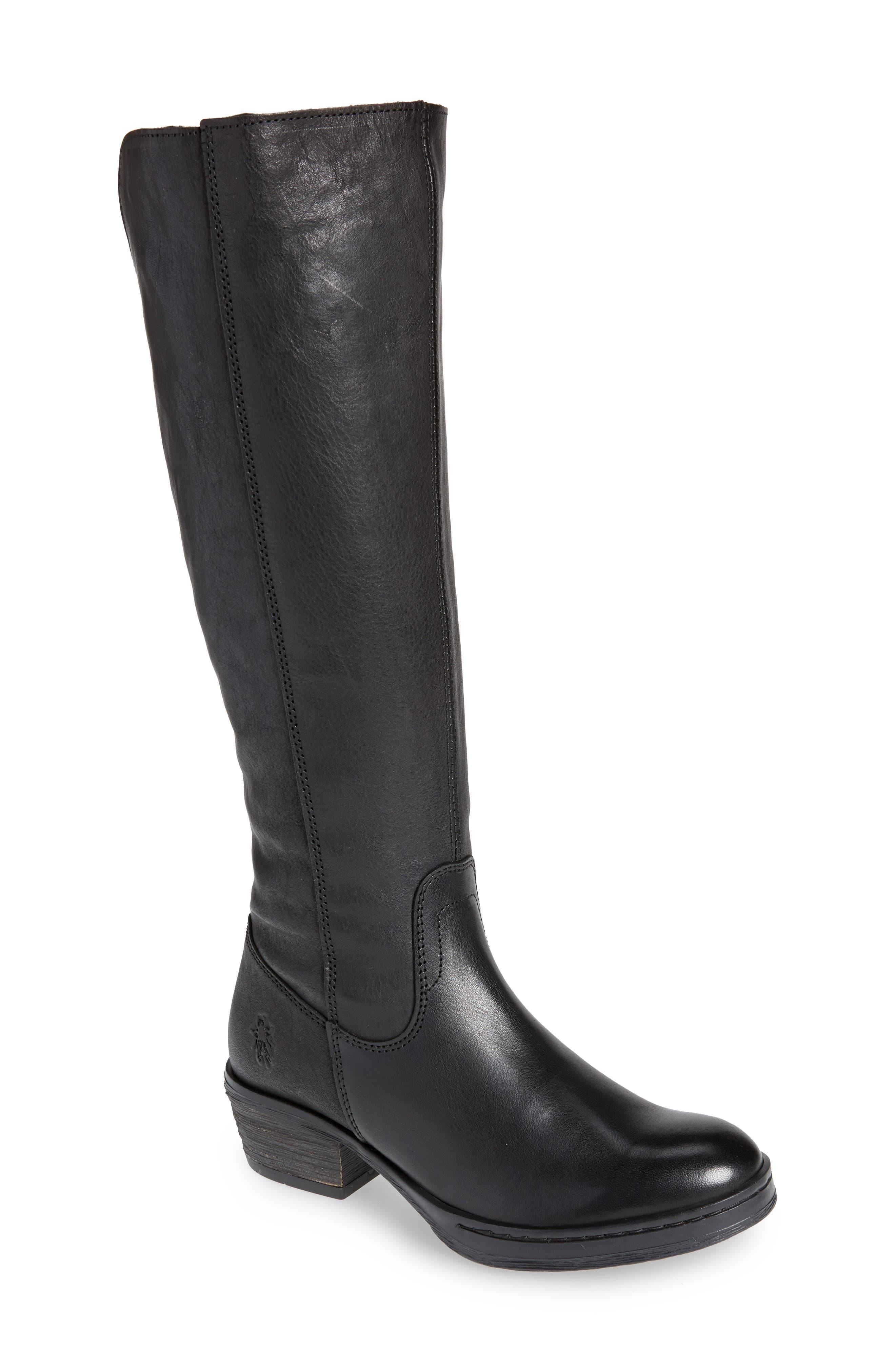 Chom Tall Boot,                         Main,                         color, BLACK
