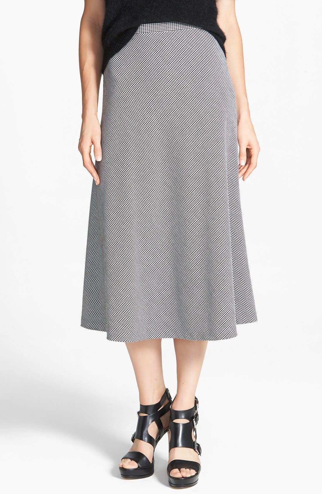 Houndstooth Circle Skirt, Main, color, 102
