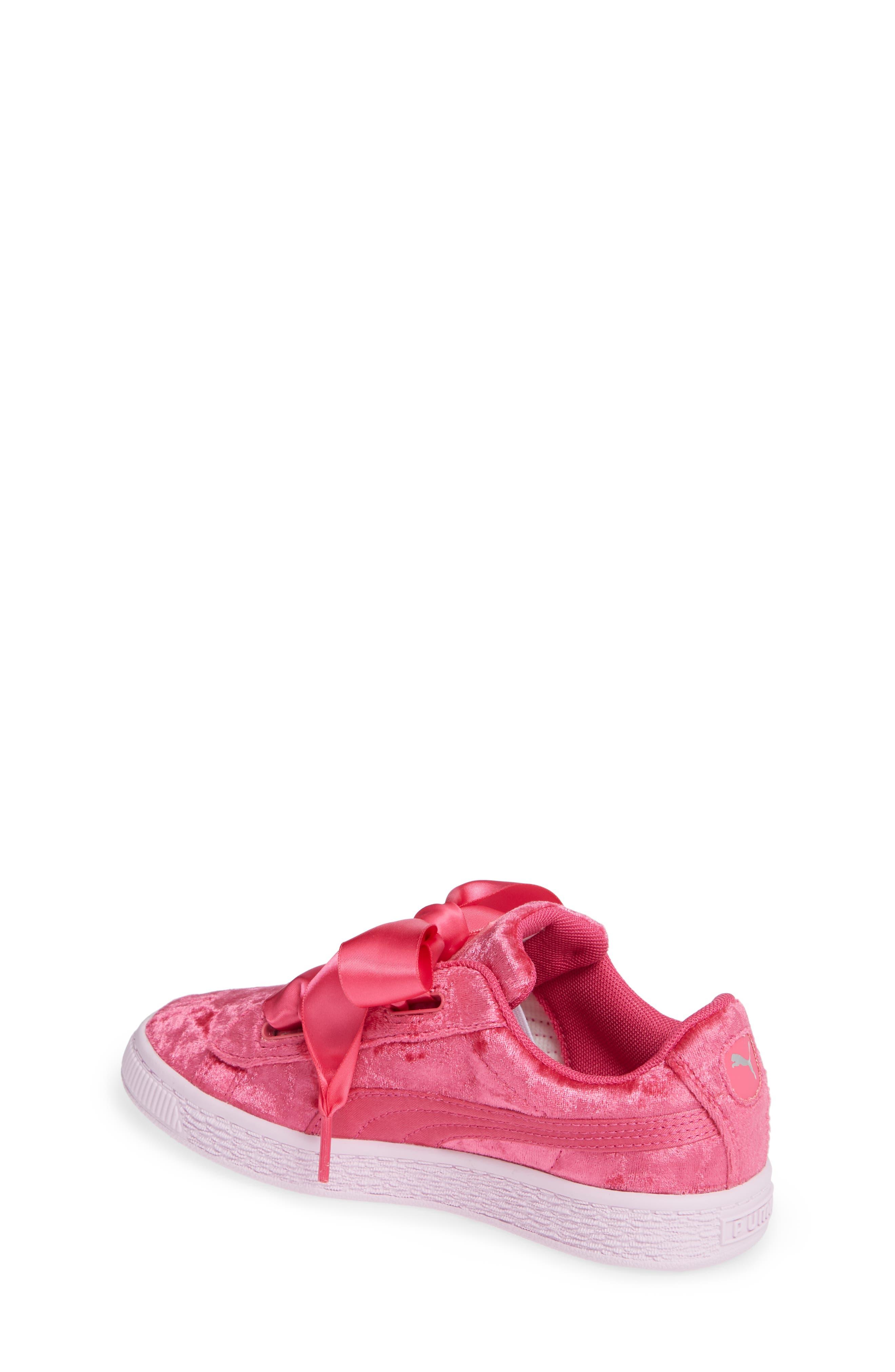 Basket Heart Sneaker,                             Alternate thumbnail 2, color,                             BEETROOT PURPLE-PUMA SILVER