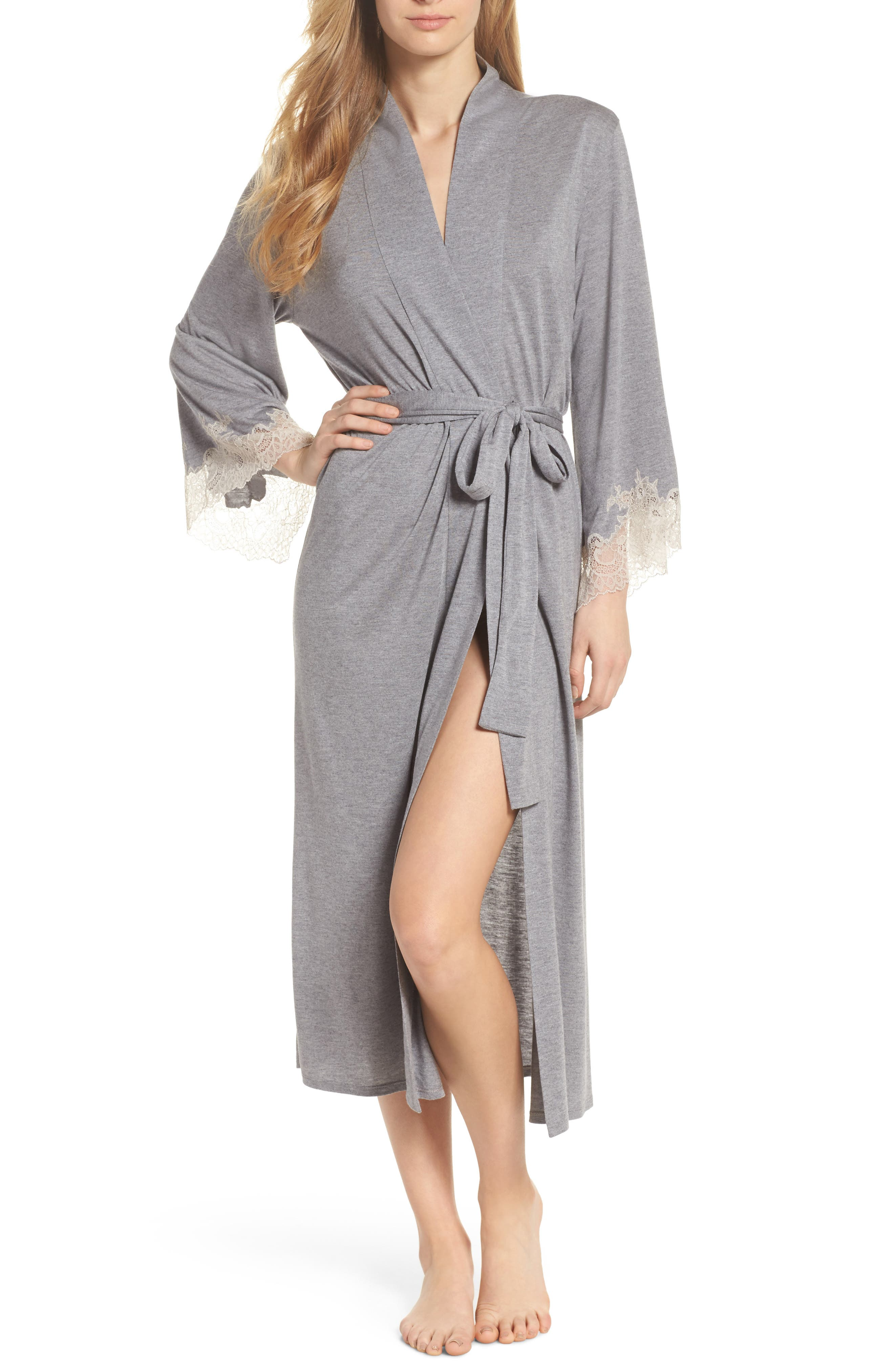 Luxe Shangri-La Robe,                         Main,                         color, GREY
