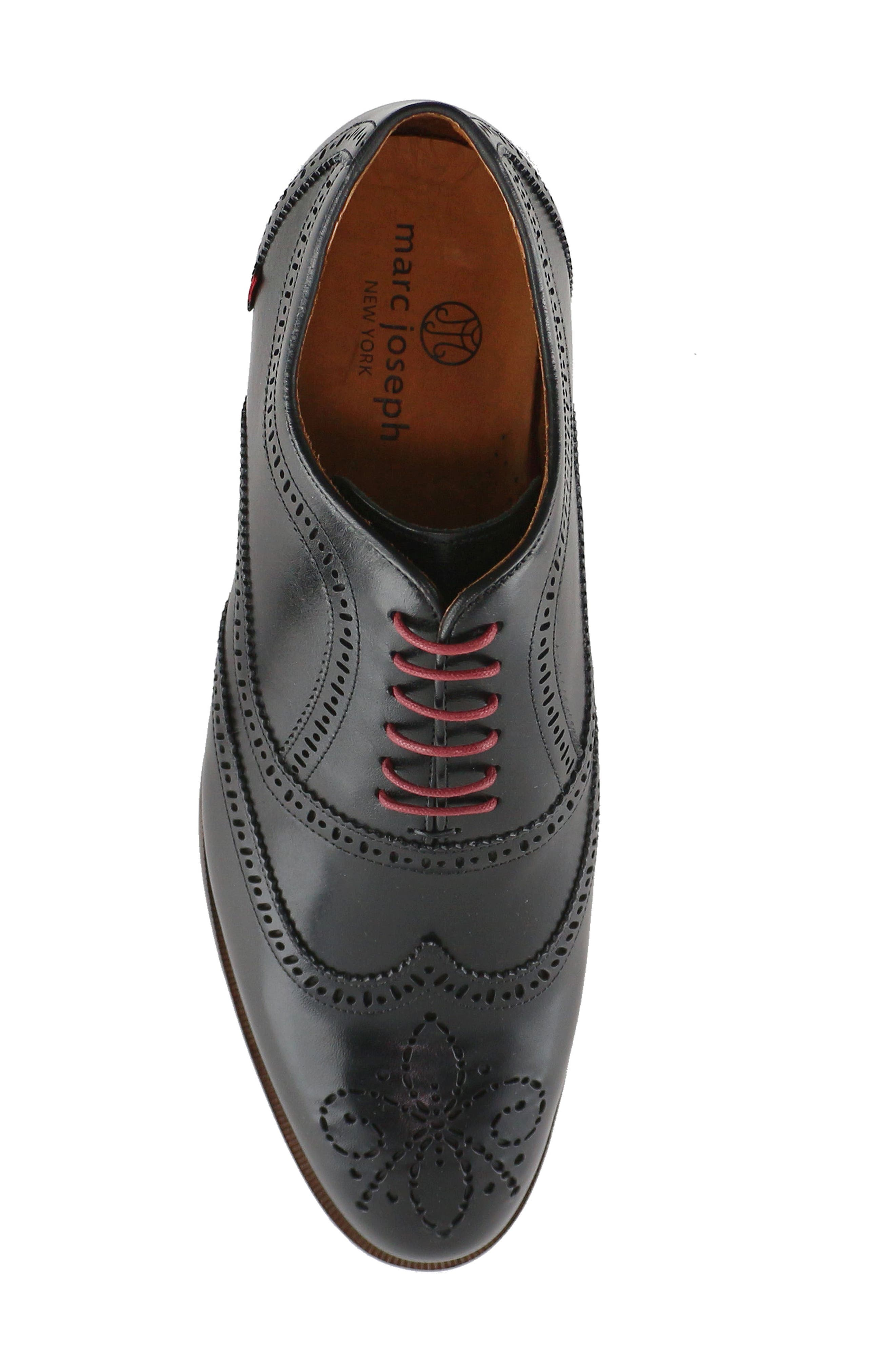 Madison Wingtip Oxford,                             Alternate thumbnail 5, color,                             BLACK