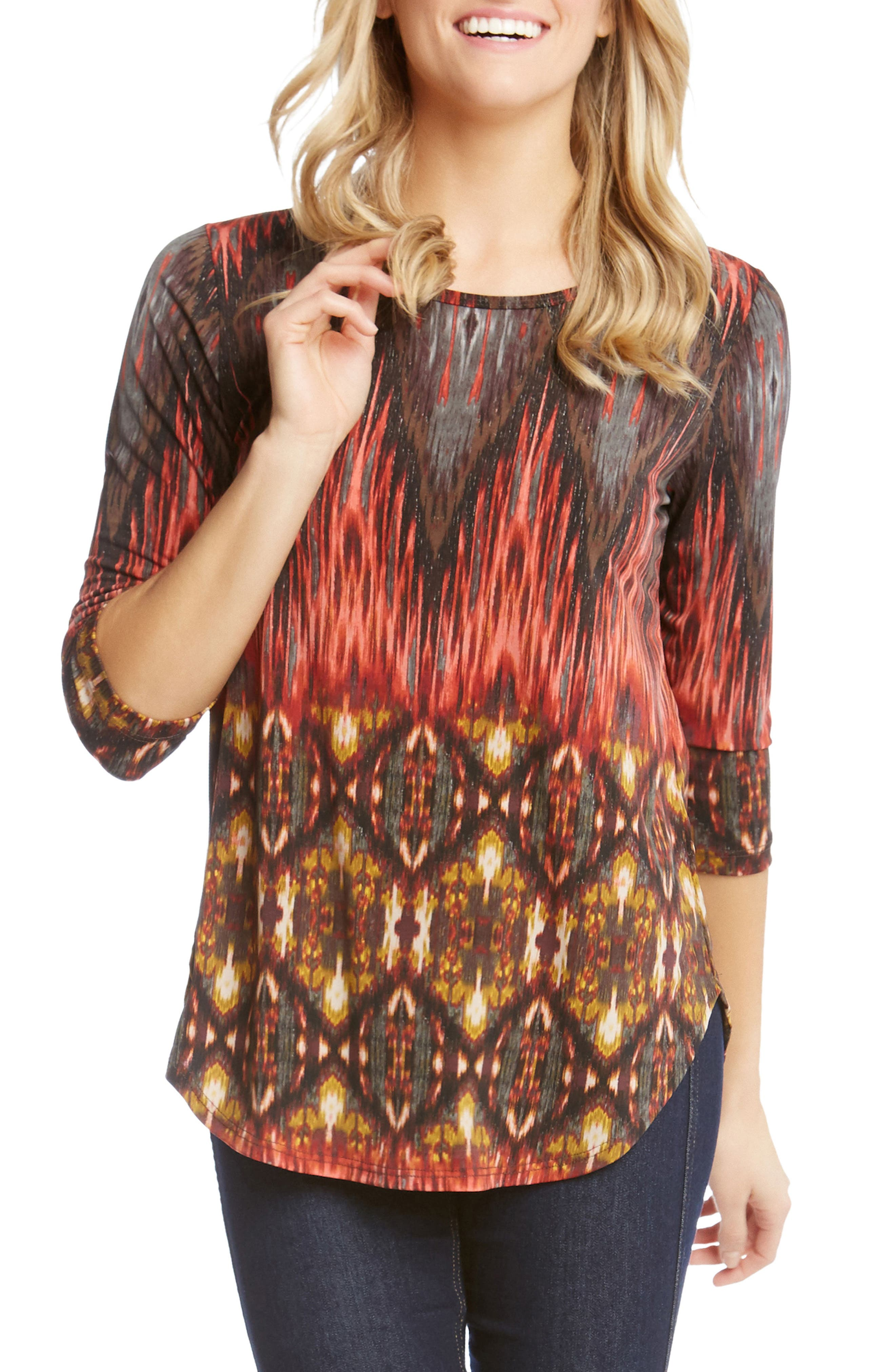Desert Print Shirttail Tee,                             Main thumbnail 1, color,