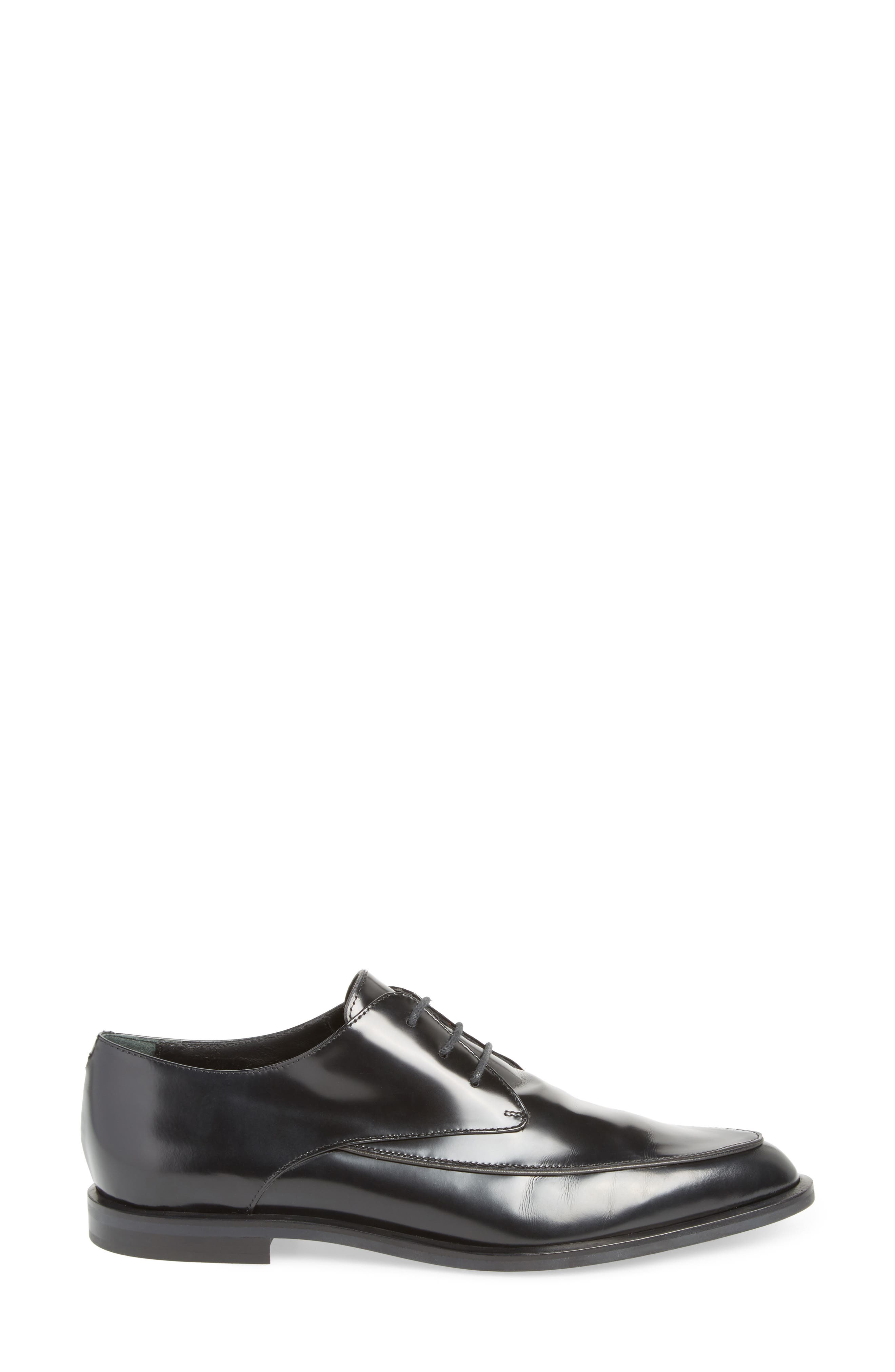 Pointy Toe Oxford,                             Alternate thumbnail 3, color,                             001