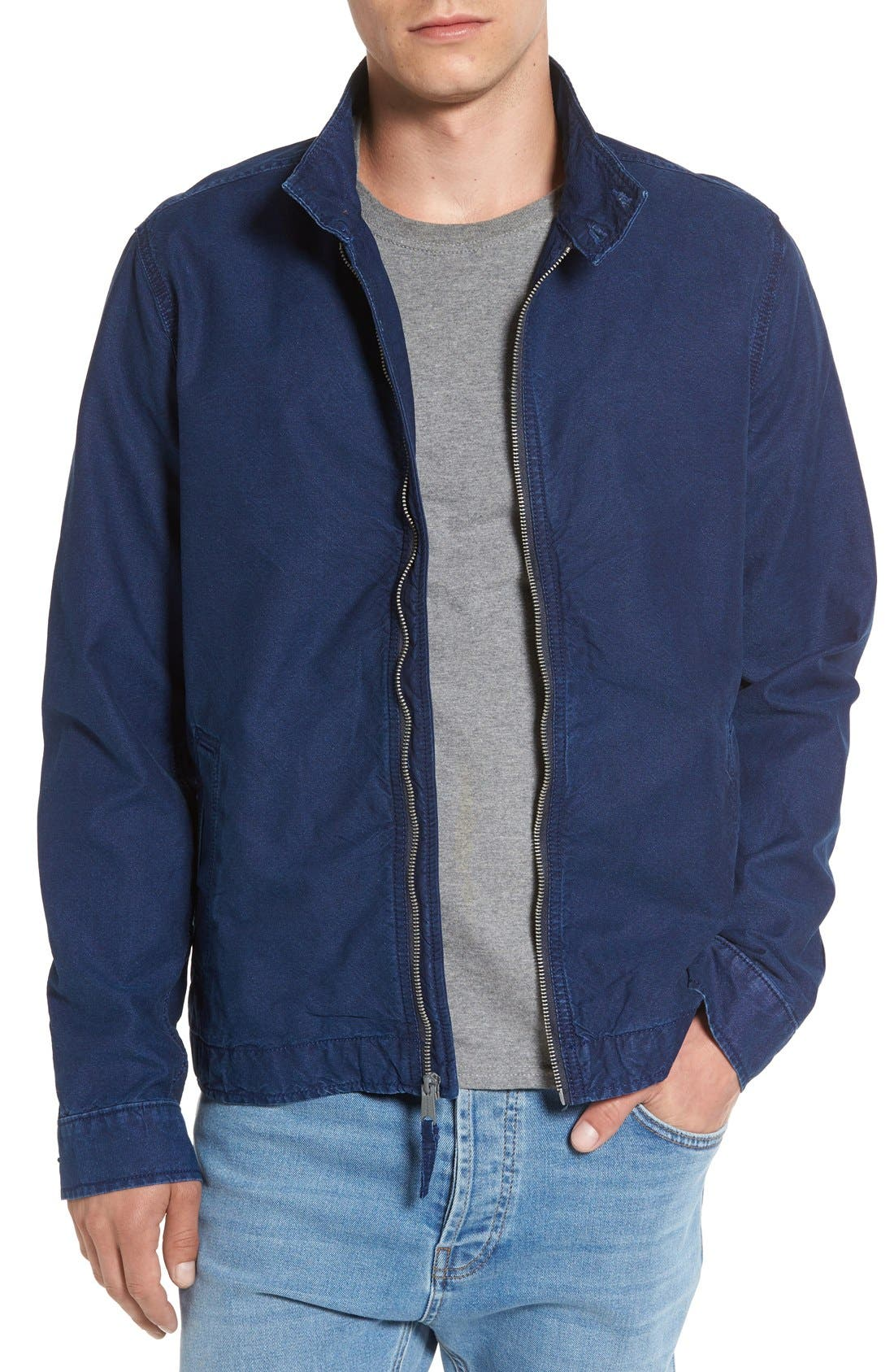 LUCKY BRAND,                             Denim Harrington Jacket,                             Main thumbnail 1, color,                             410
