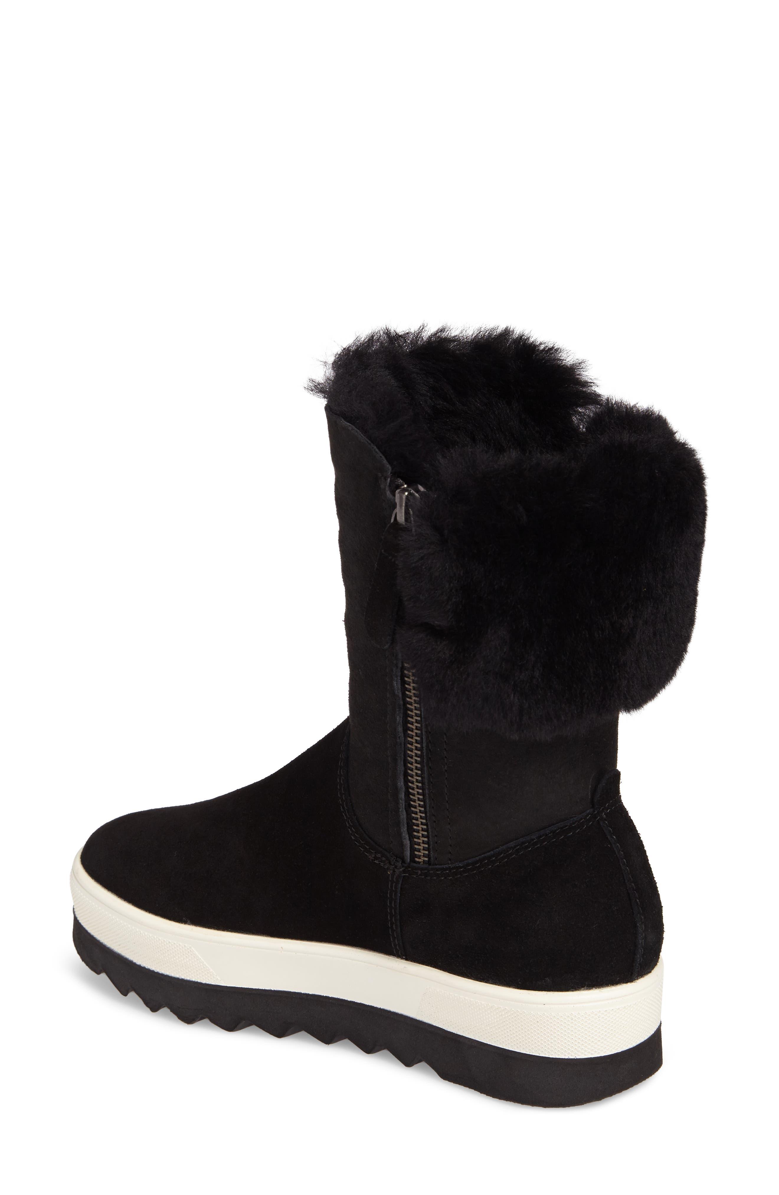 Vera Genuine Shearling Boot,                             Alternate thumbnail 2, color,                             BLACK