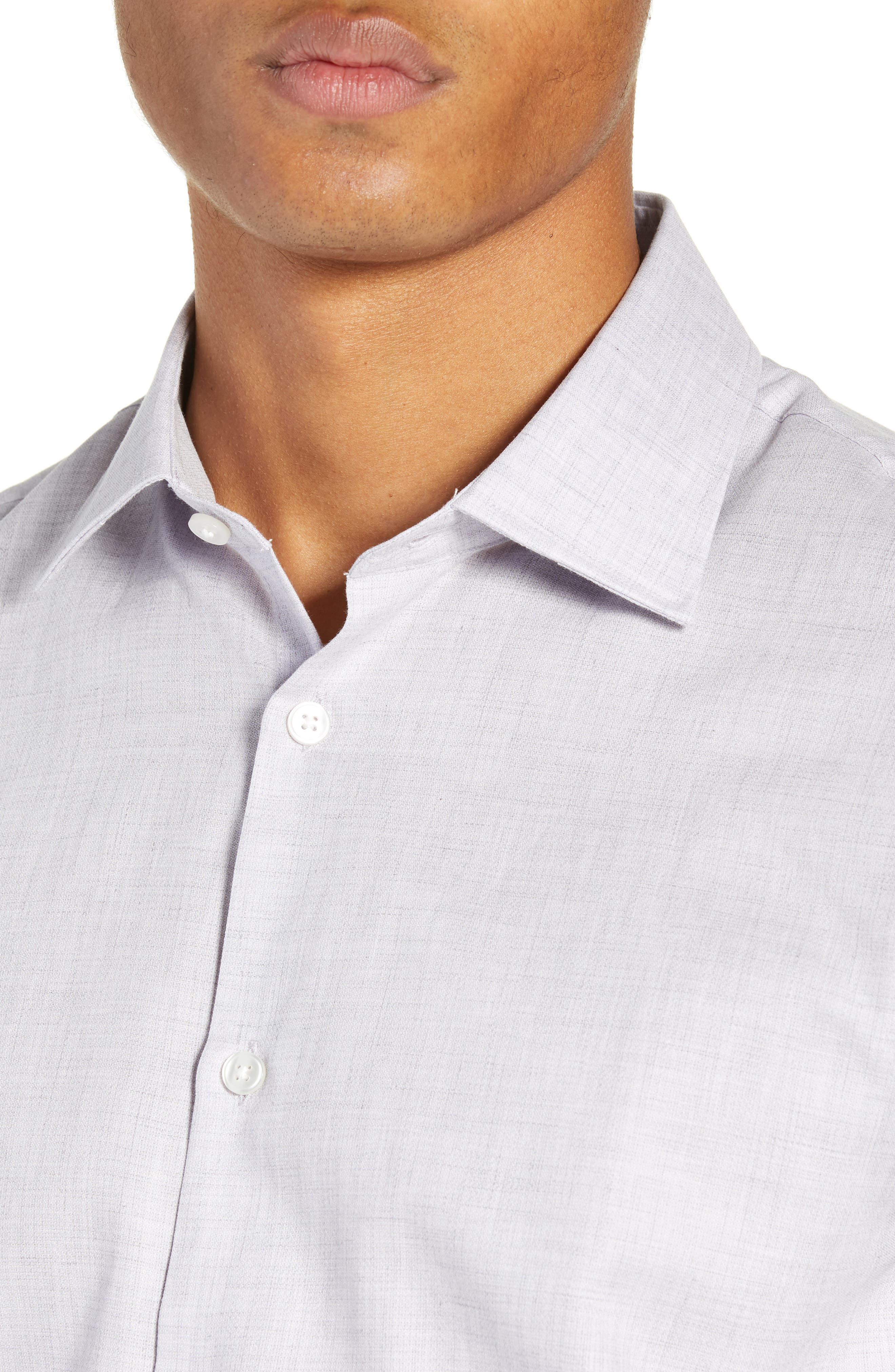 Regular Fit Solid Dress Shirt,                             Alternate thumbnail 2, color,                             HYDRANGEA