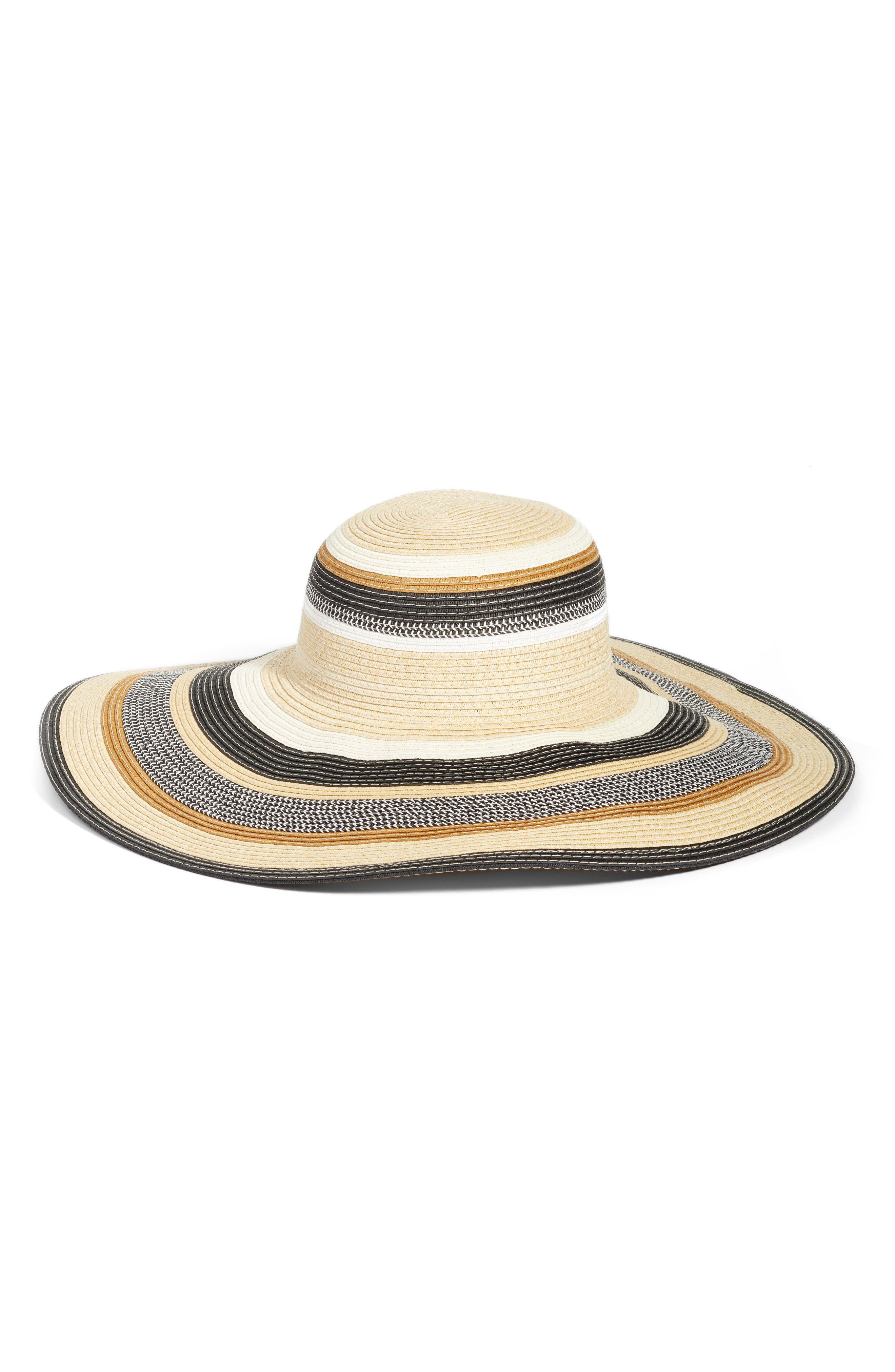 Byron Floppy Straw Hat,                             Main thumbnail 1, color,                             001