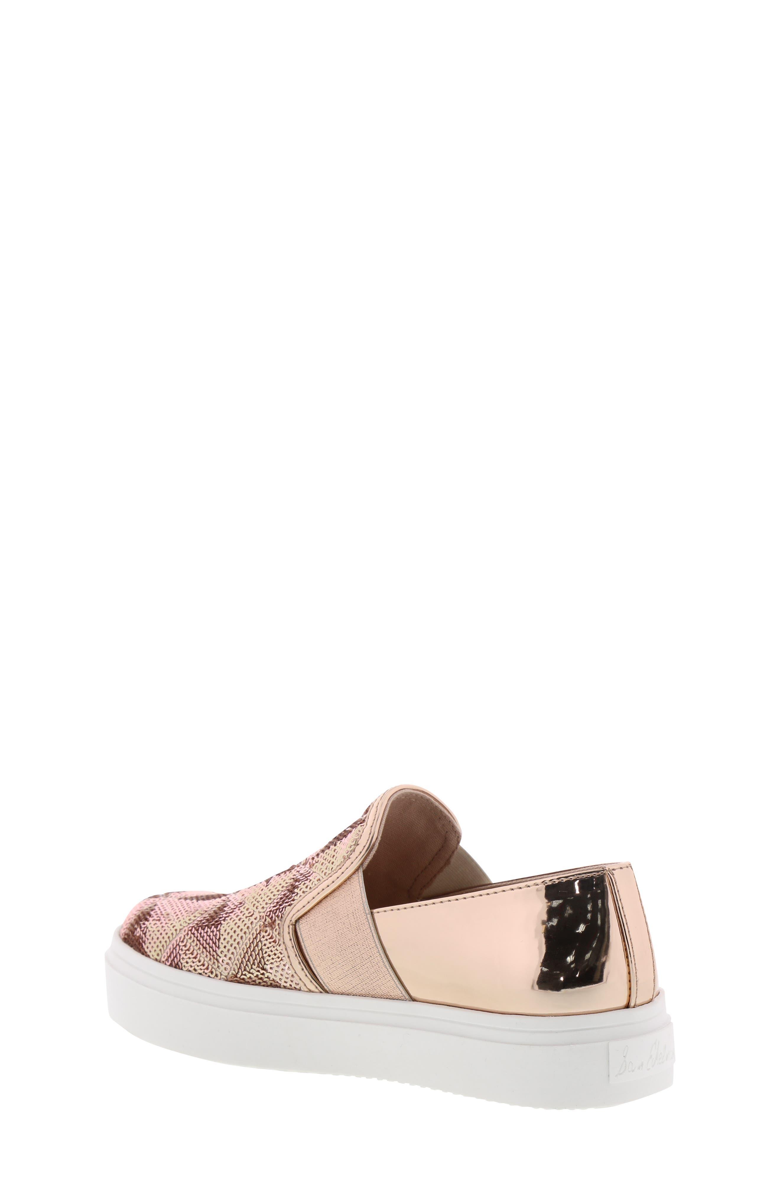 Sheena Pam Sequin Sneaker,                             Alternate thumbnail 2, color,                             ROSE GOLD