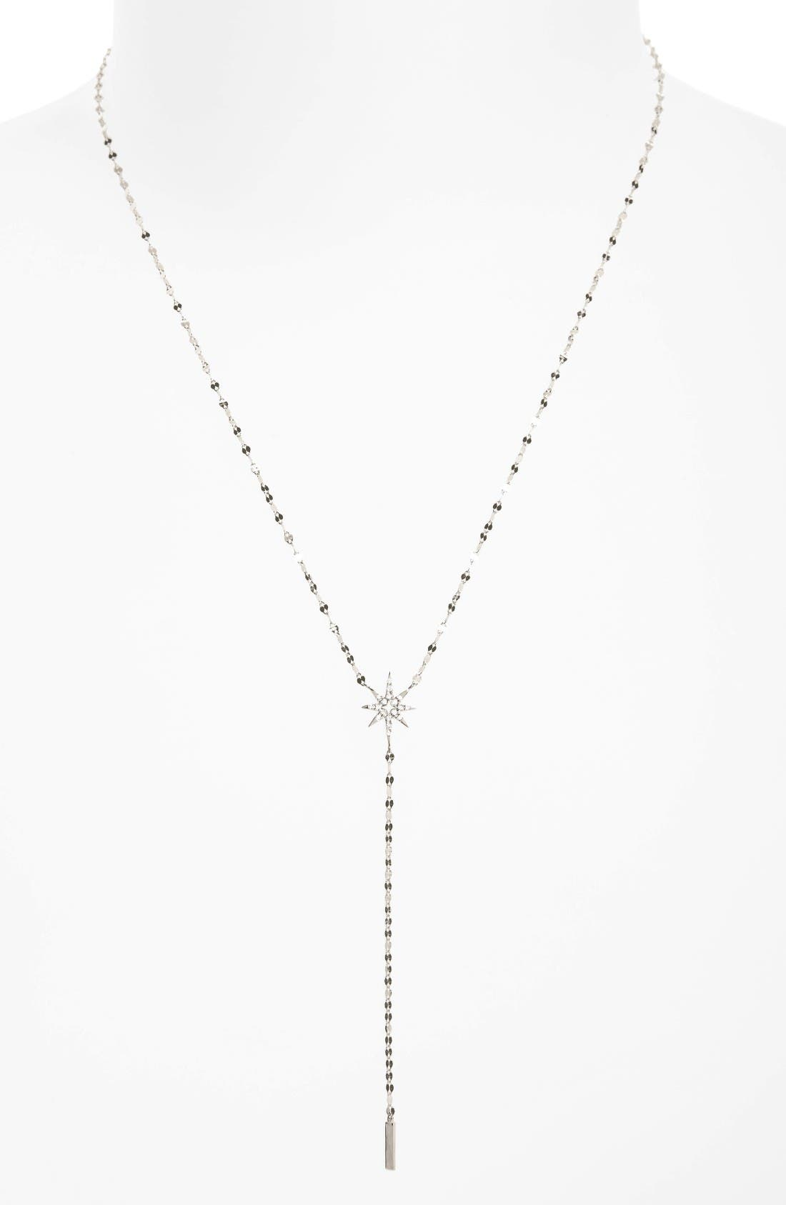 Flawless Diamond Star Y-Necklace,                             Main thumbnail 1, color,                             711