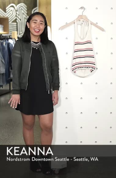 Stripe Halter Sweater Tank, sales video thumbnail