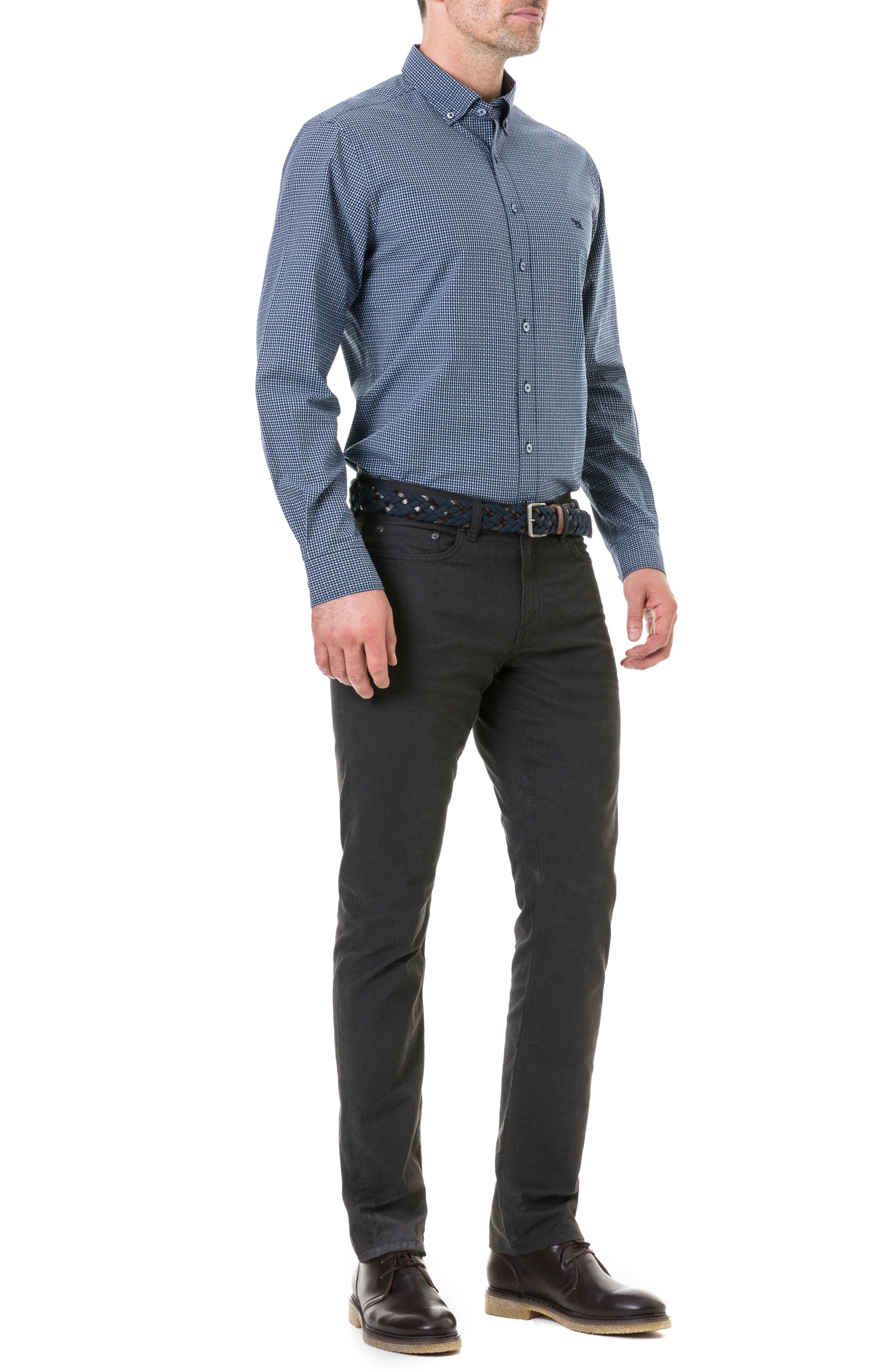 Wingrove Regular Fit Sport Shirt,                             Alternate thumbnail 4, color,                             MIDNIGHT