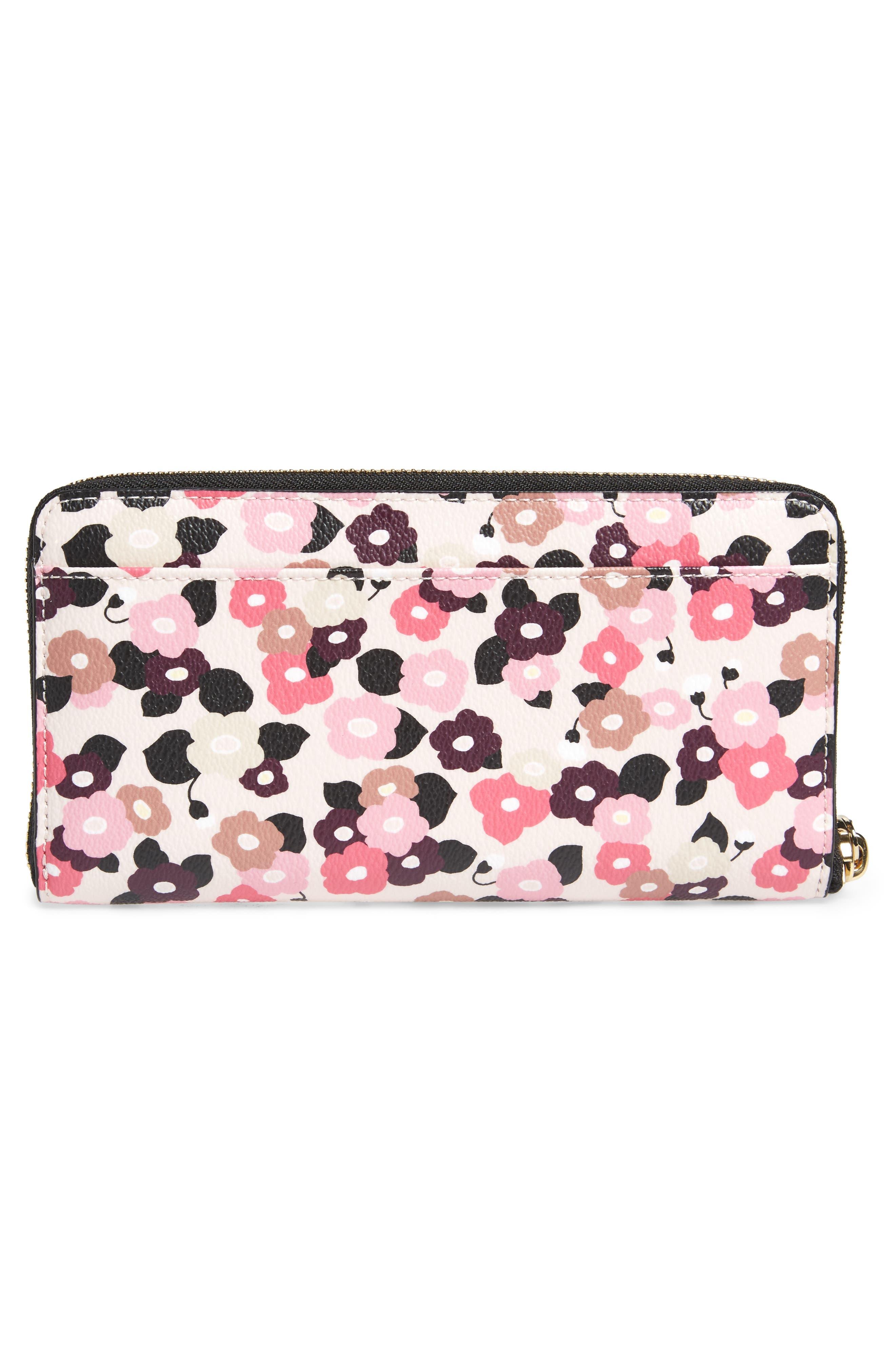 hyde lane michele floral faux leather wallet,                             Alternate thumbnail 3, color,                             687
