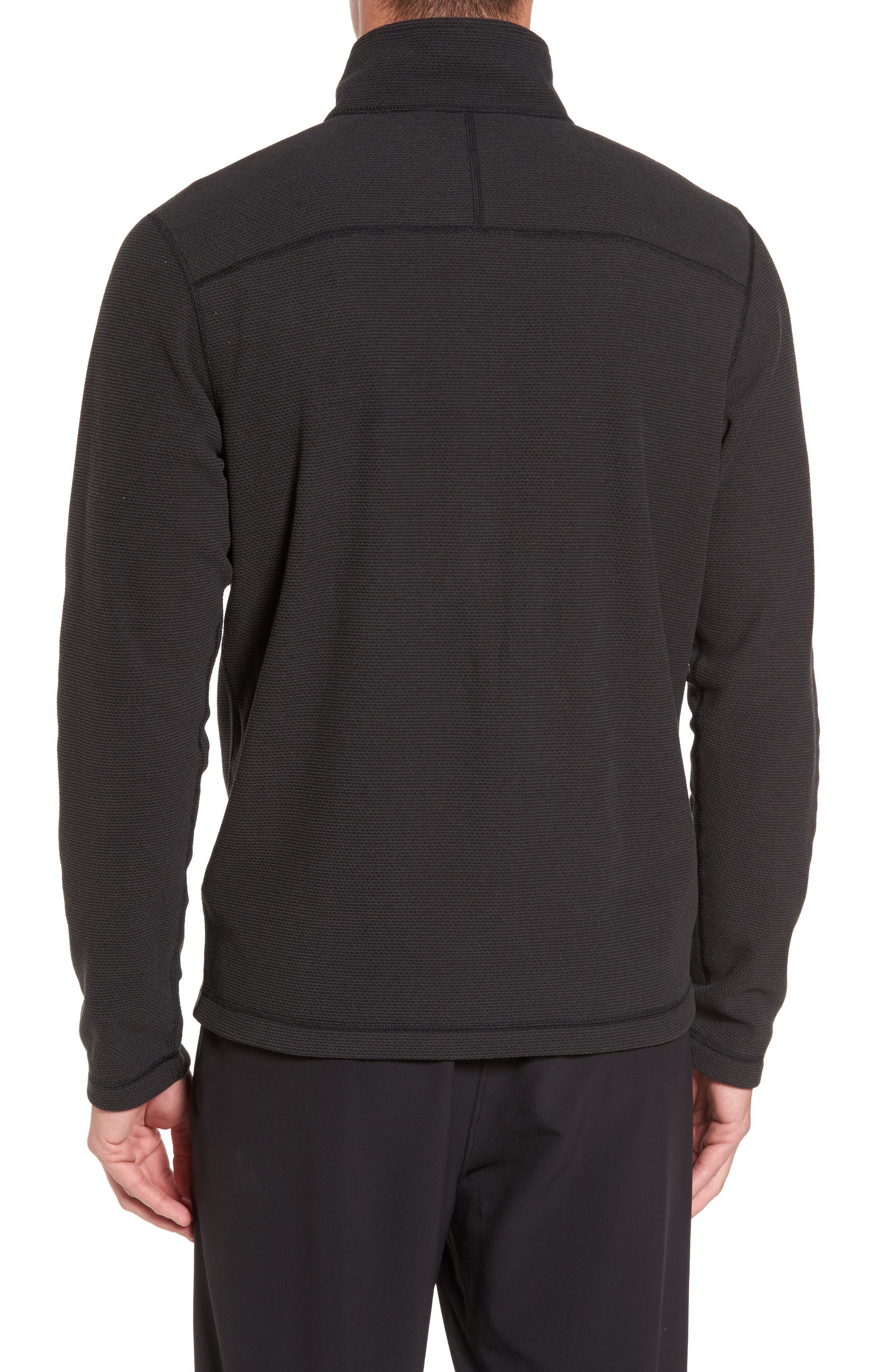 Texture Cap Rock Quarter Zip Fleece Jacket,                             Alternate thumbnail 2, color,                             TNF BLACK