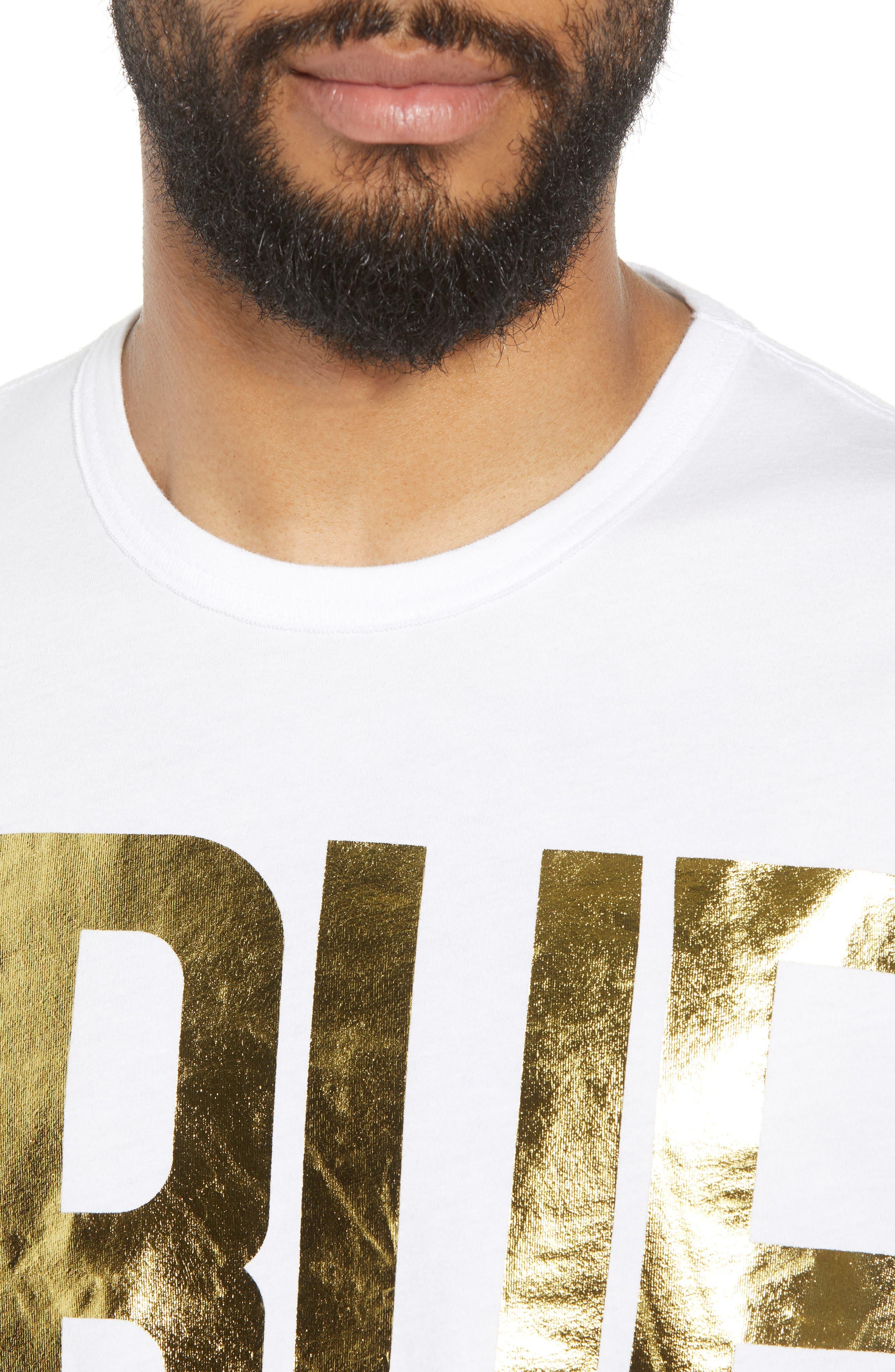 Gold Foil Logo T-Shirt,                             Alternate thumbnail 8, color,