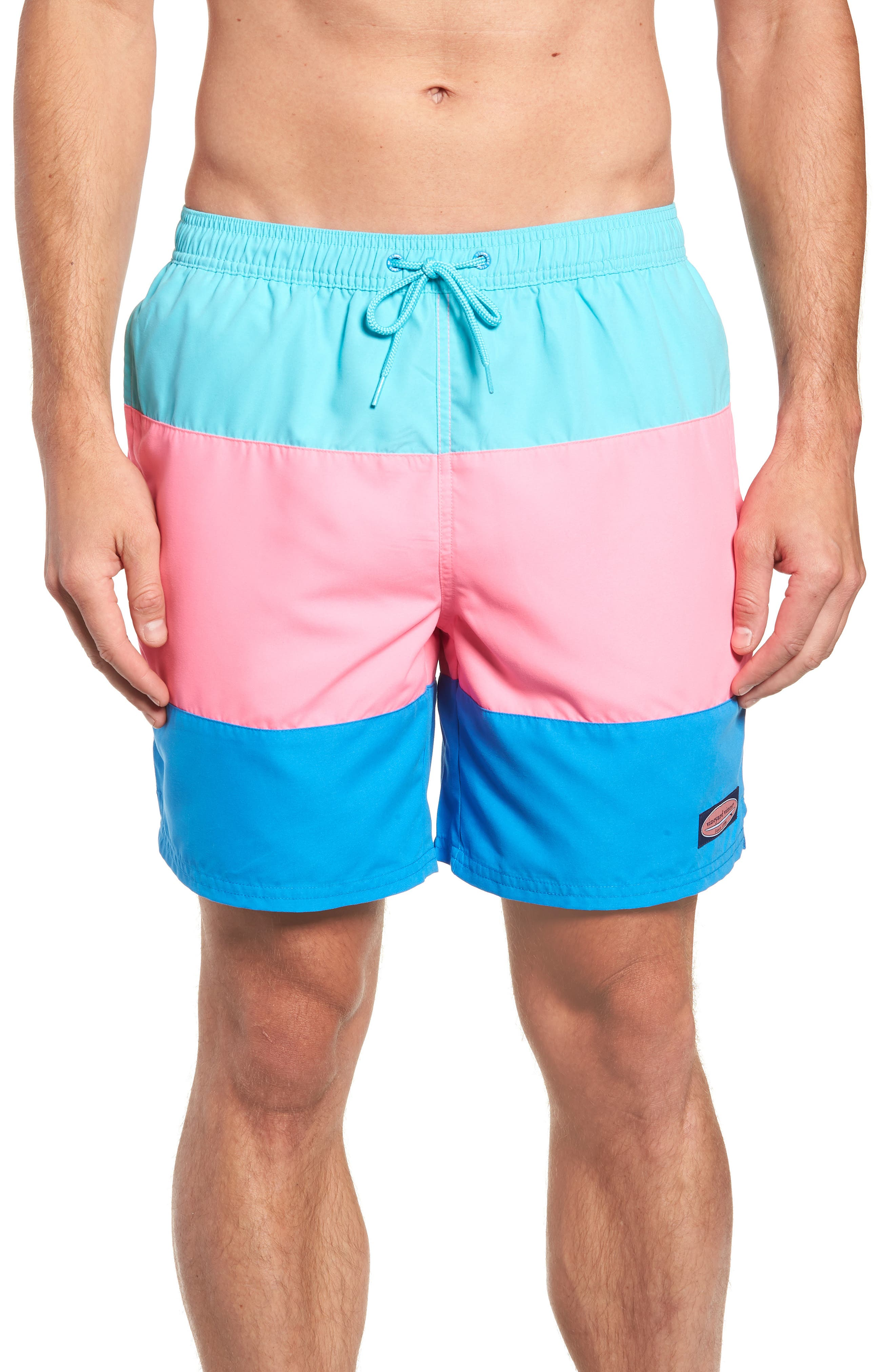 Chappy Pieced Swim Trunks,                         Main,                         color, 459