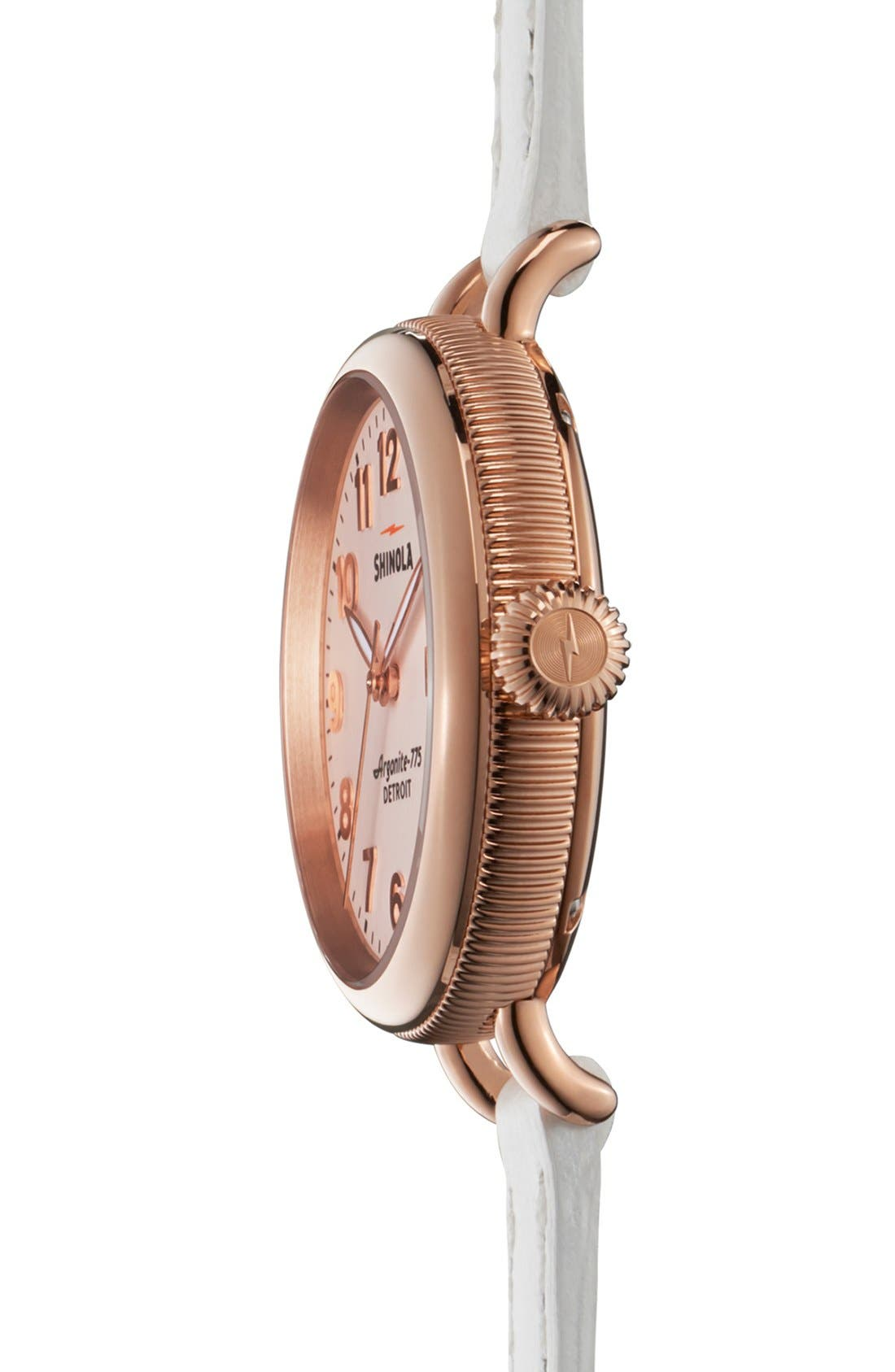 'The Birdy' Double Wrap Leather Strap Watch, 34mm,                             Alternate thumbnail 54, color,